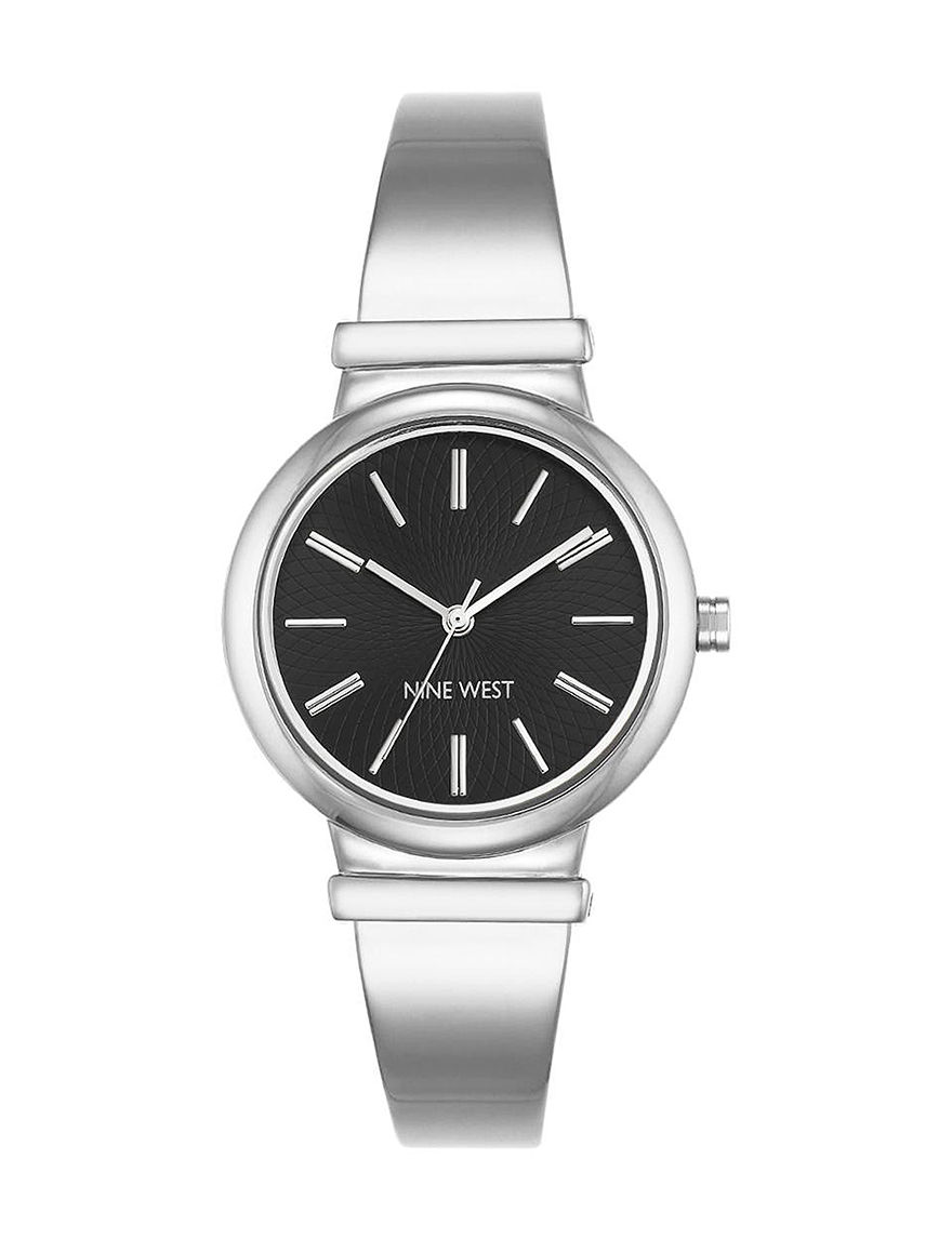 Nine West White / Silver Fashion Watches
