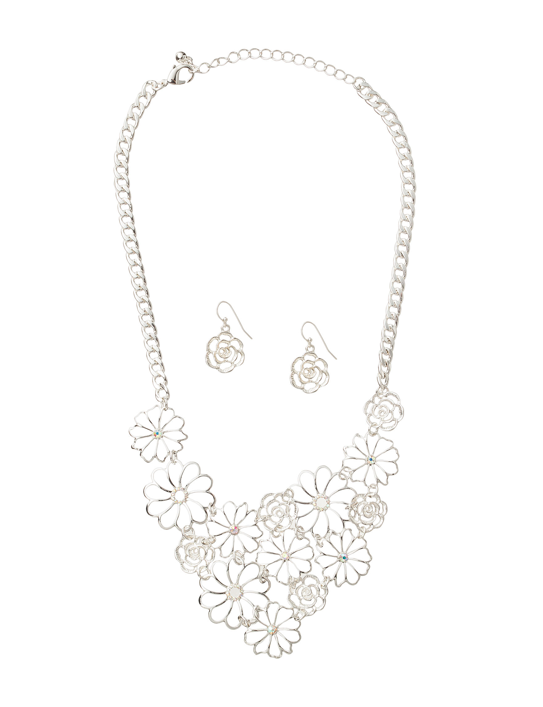 Hannah Multi Drops Earrings Necklaces & Pendants Fashion Jewelry