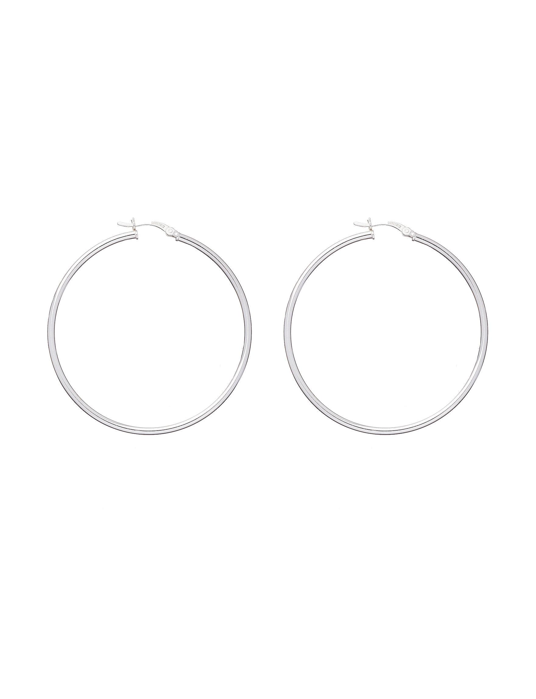 Sunstone Silver Hoops Earrings Fine Jewelry