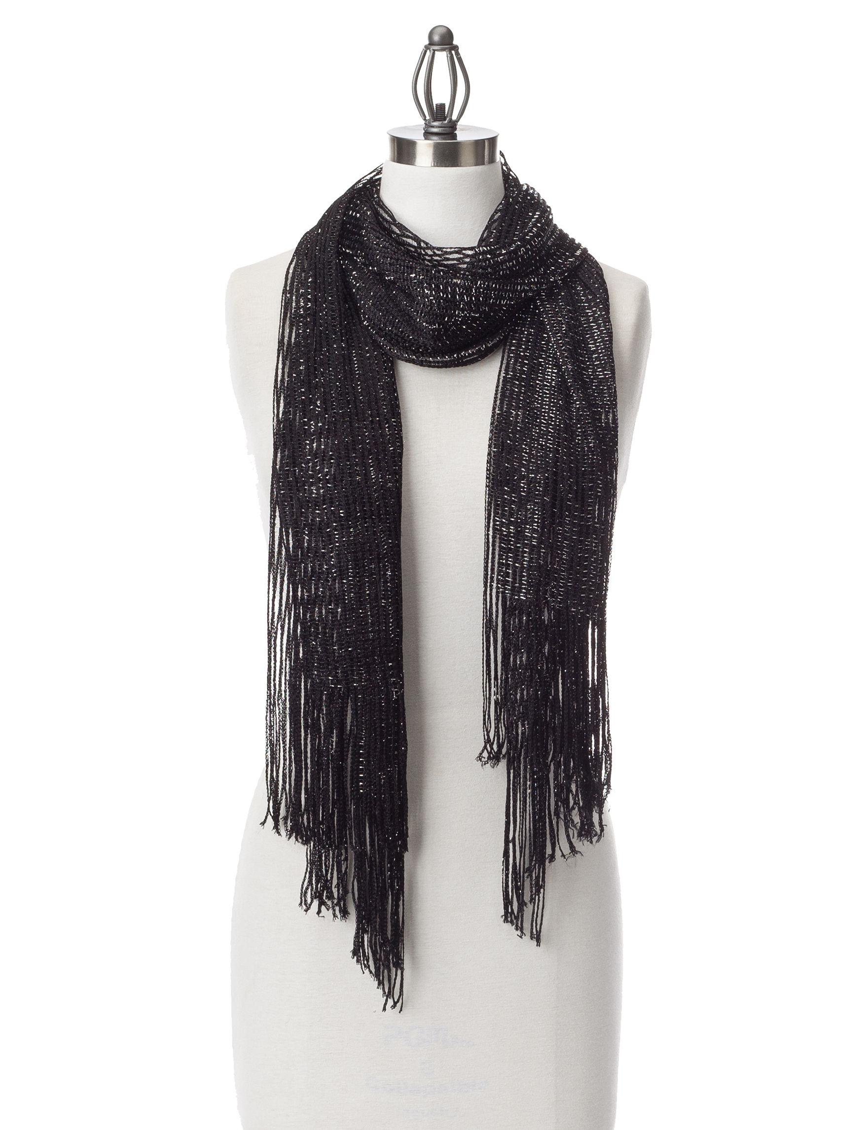 Collection 18 Black Scarves & Wraps