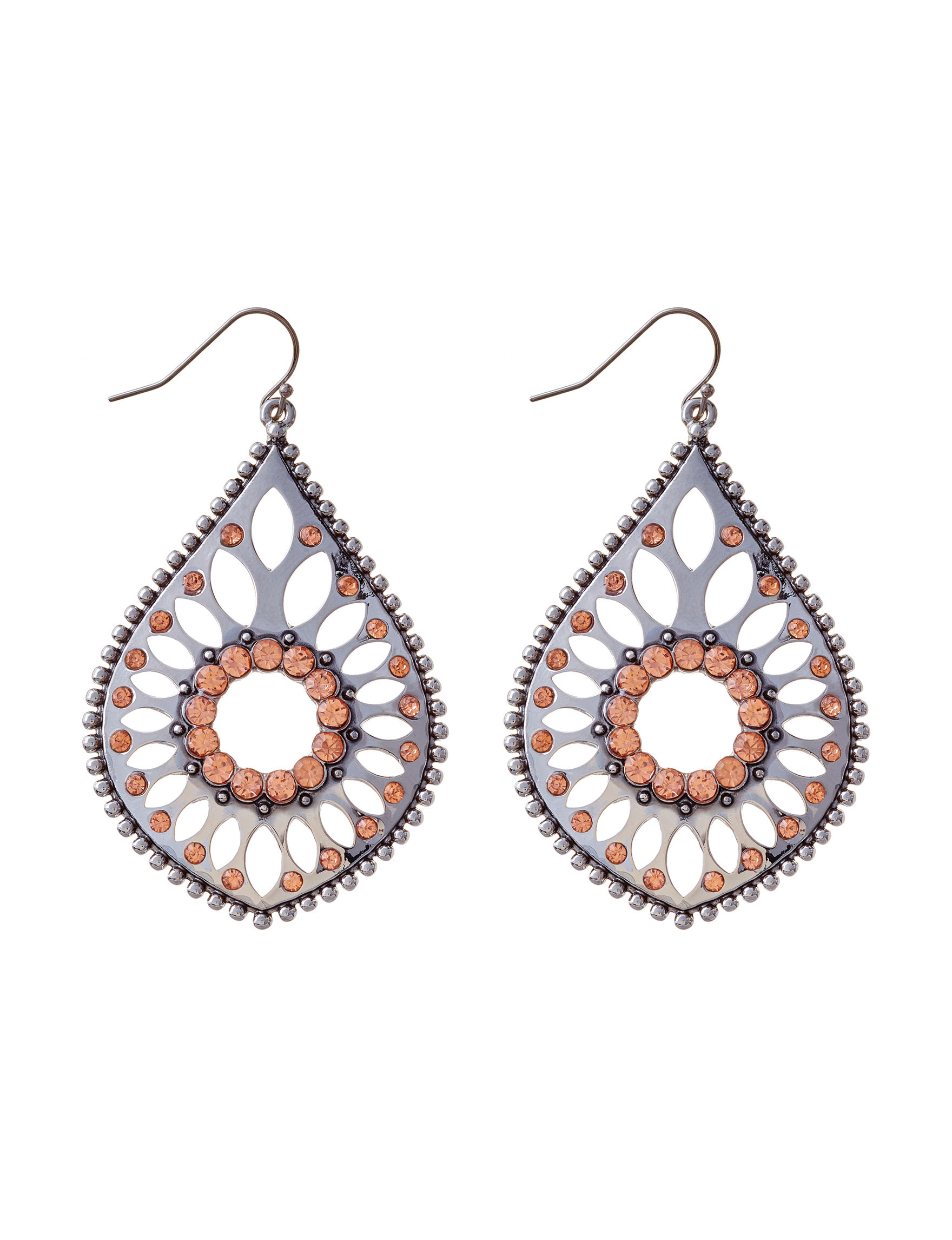 Jessica Simpson Silver Drops Earrings Fashion Jewelry
