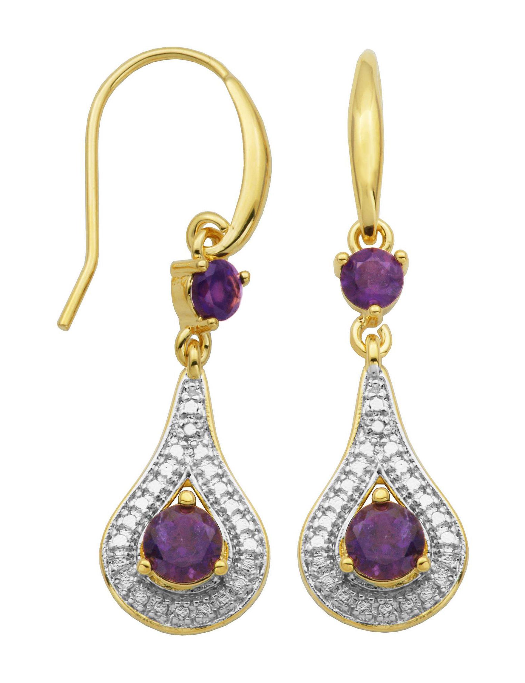 PAJ INC. Purple Drops Earrings Fine Jewelry