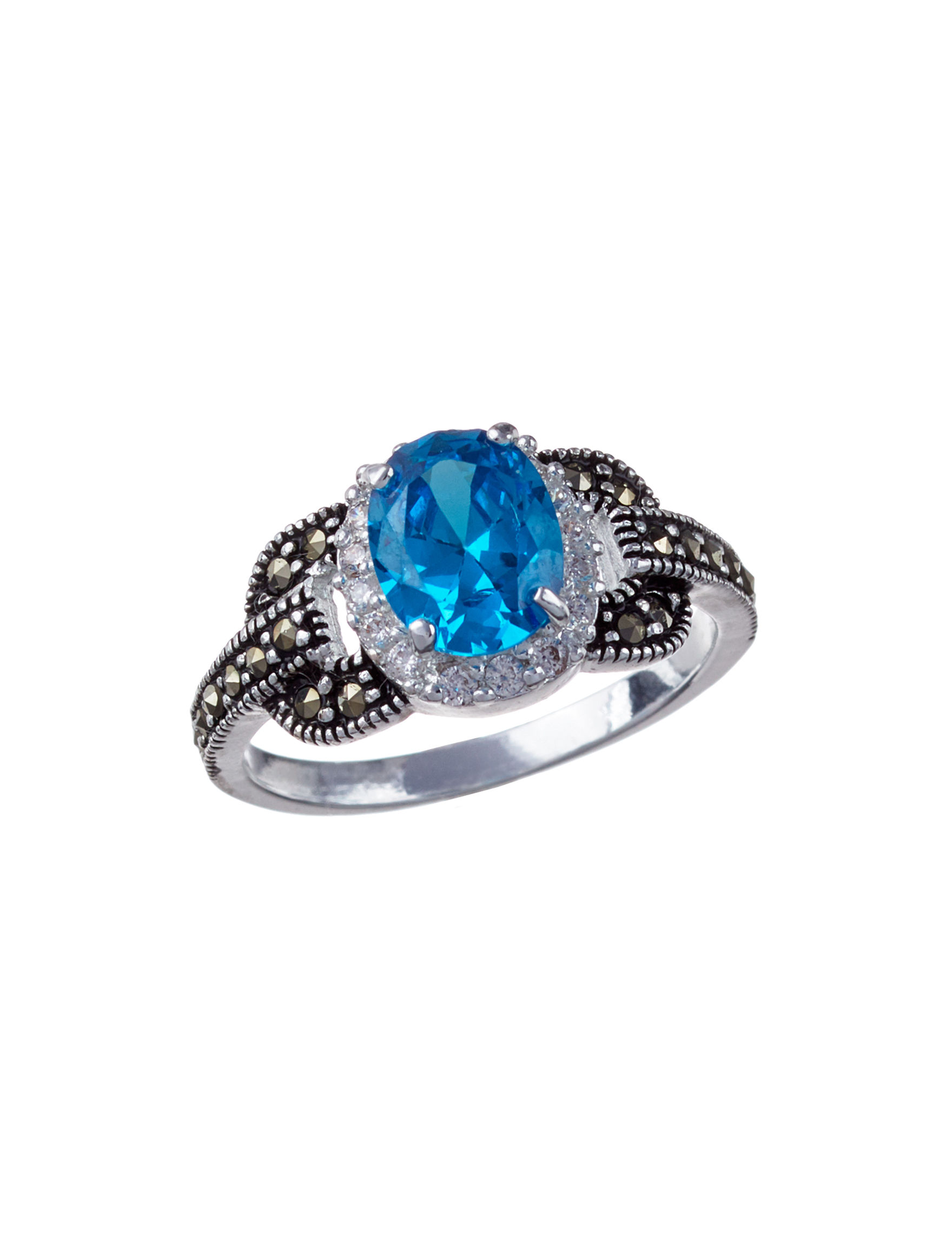 Marsala Black /  White Rings Fine Jewelry