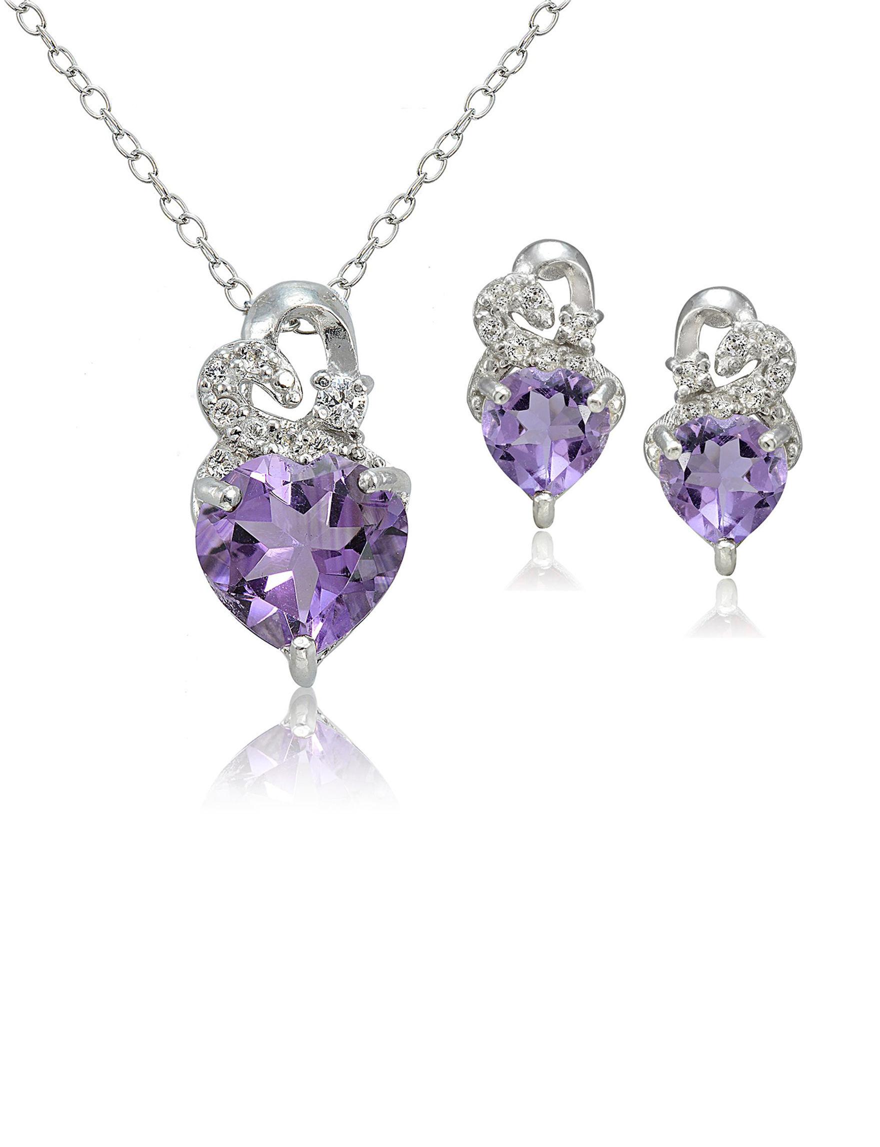 FMC Purple Earrings Necklaces & Pendants Fine Jewelry