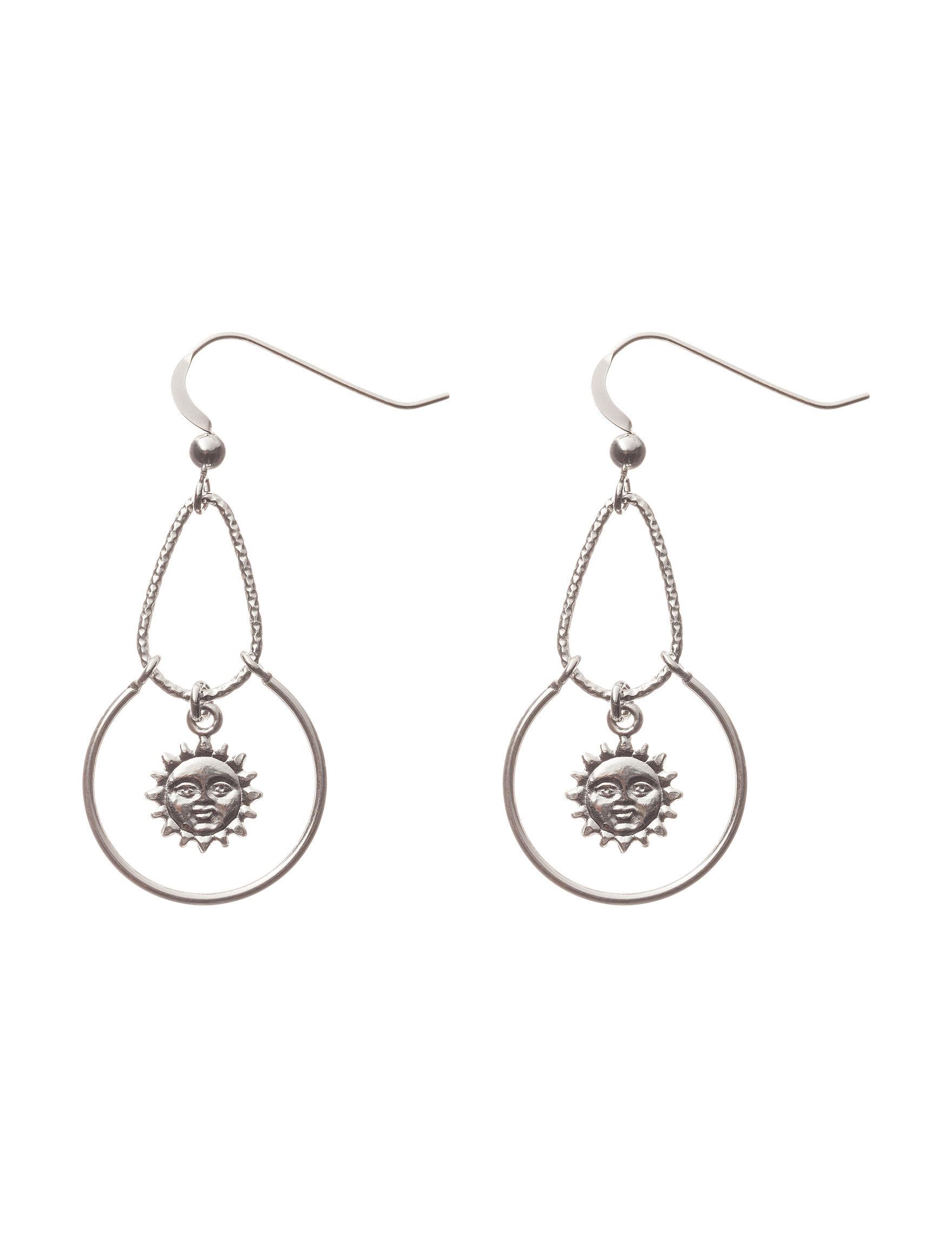 Cellini White / Silver Earrings Fine Jewelry