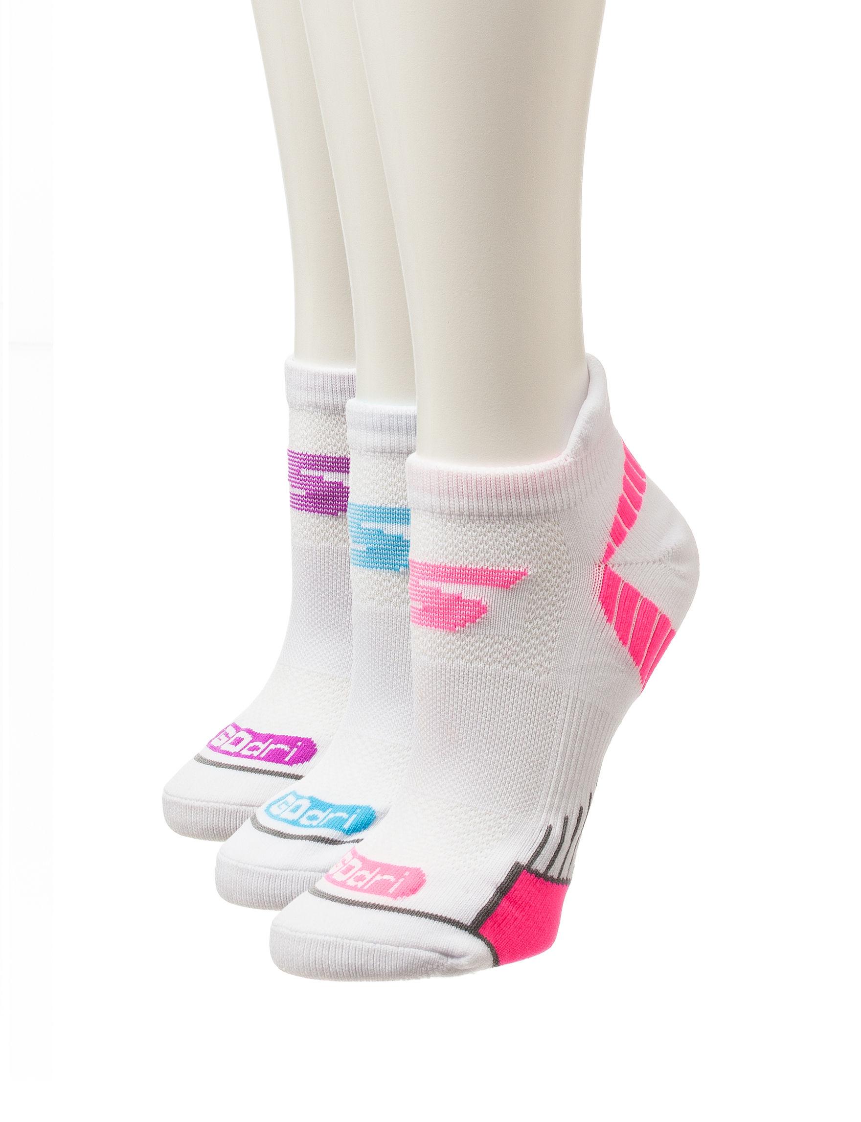 Skechers White/Multi Socks