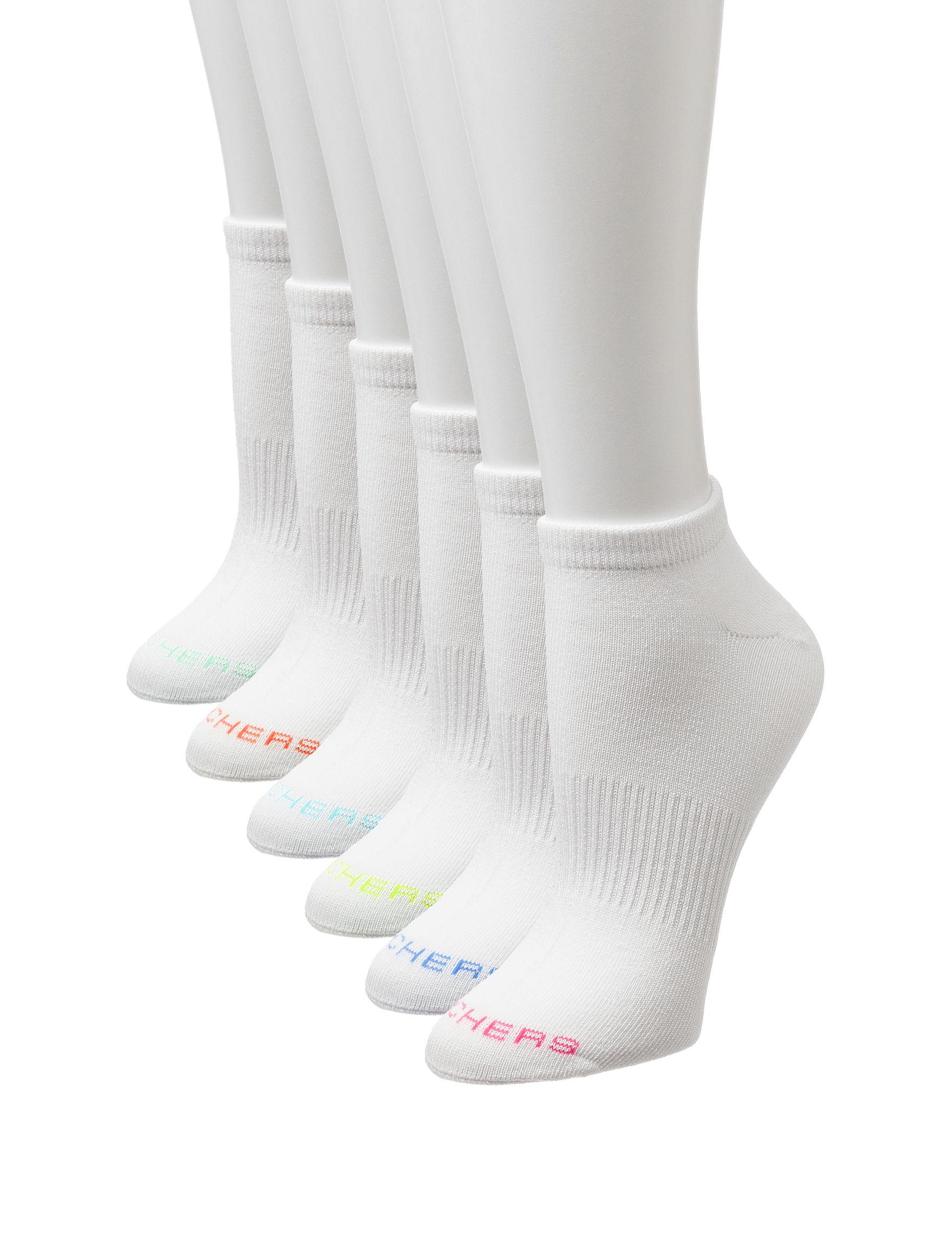 Skechers White Socks