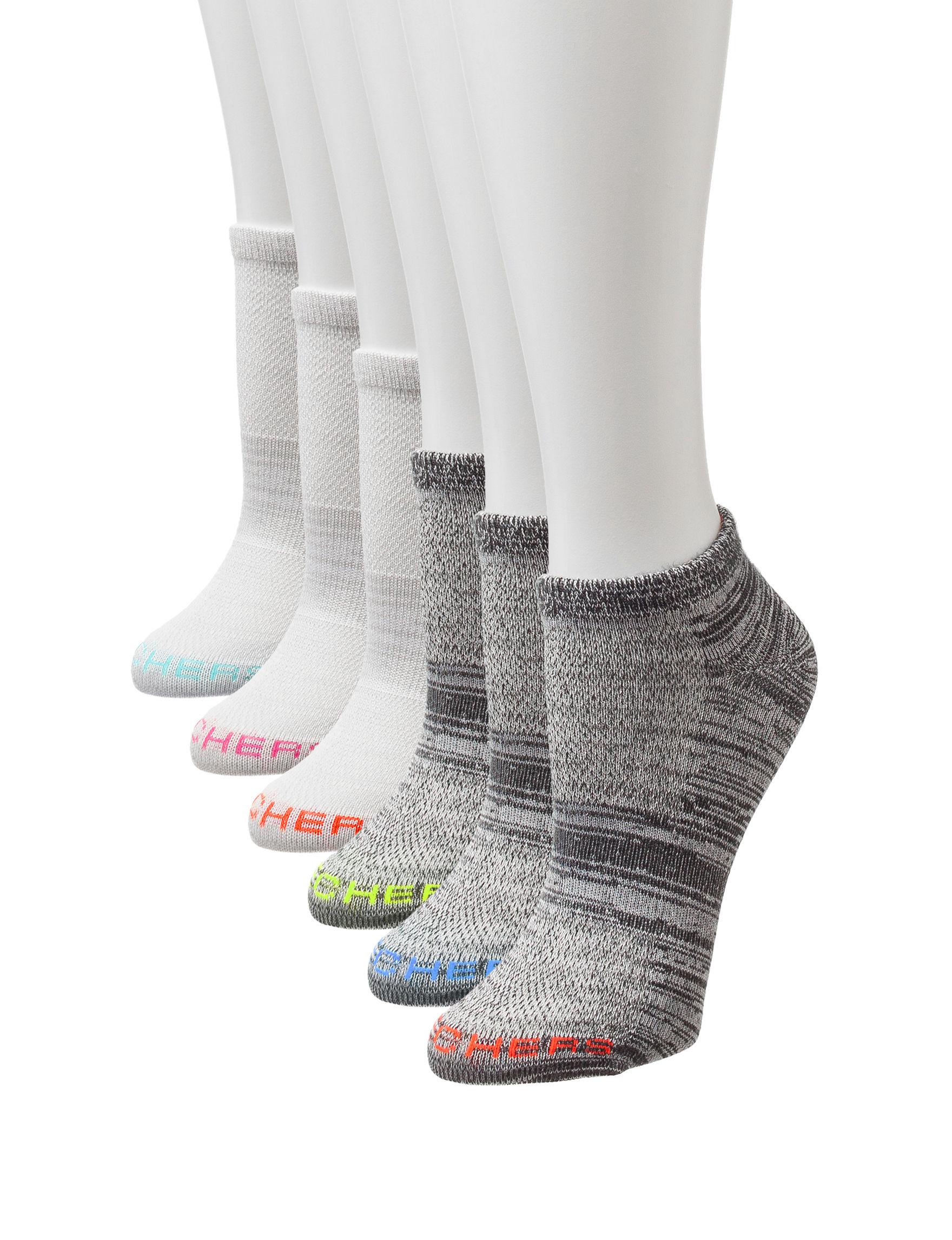 Skechers Grey / Black Socks