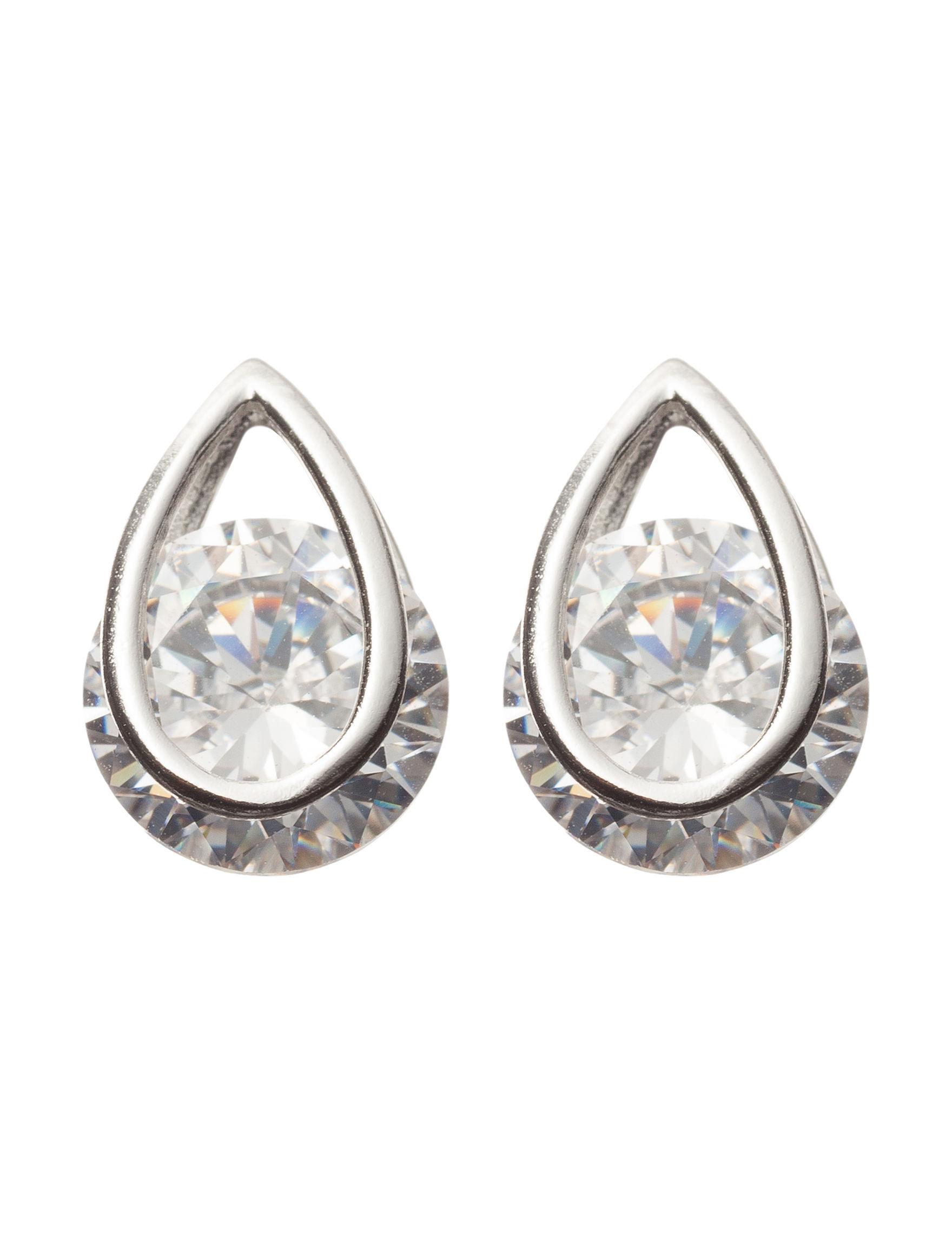 Sunstone White Earrings Fine Jewelry
