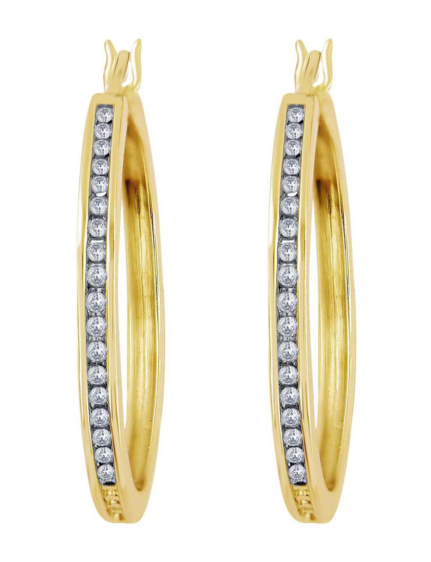 Yellow Hoops Earrings Fine Jewelry