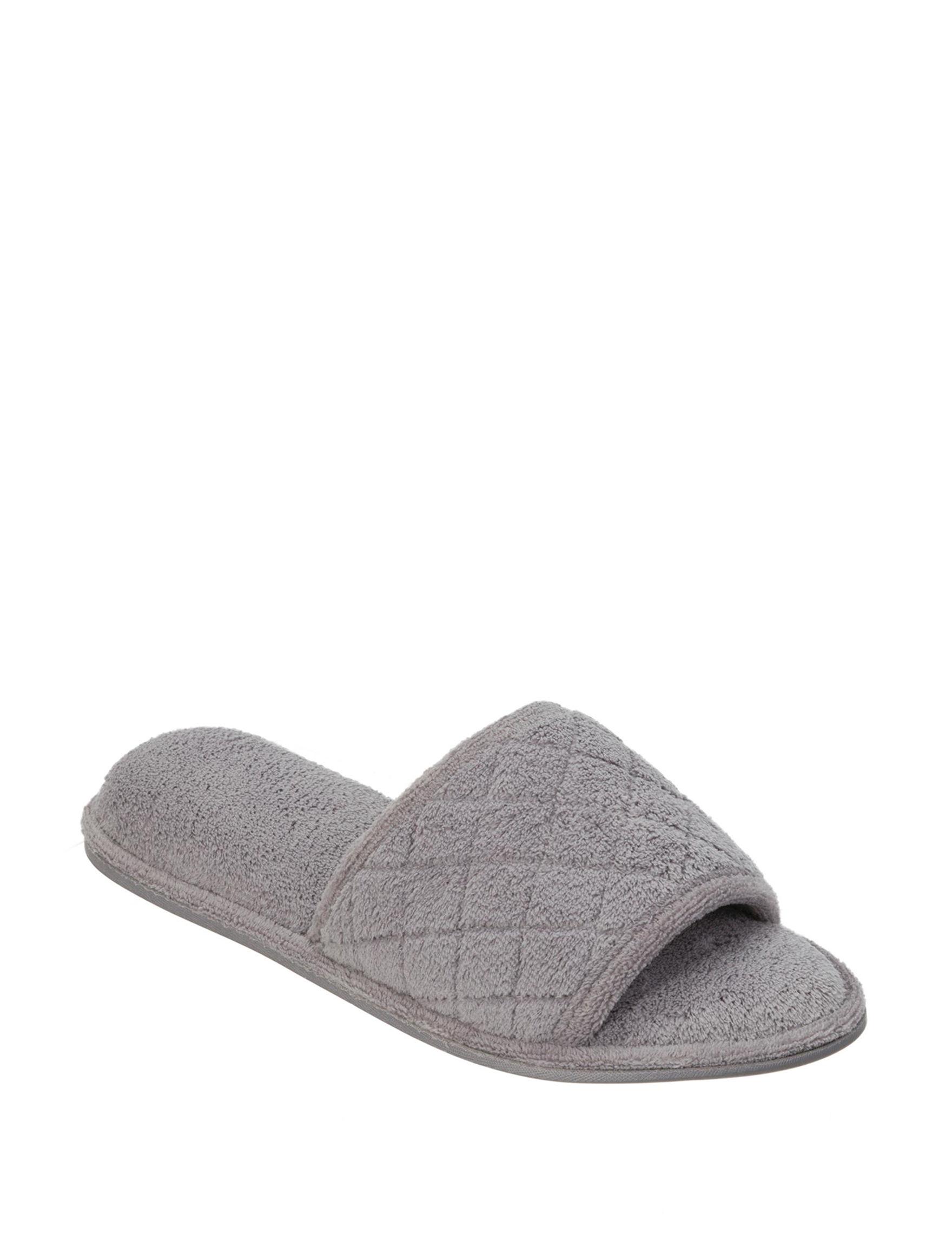 Dearfoams Grey Slipper Sandals