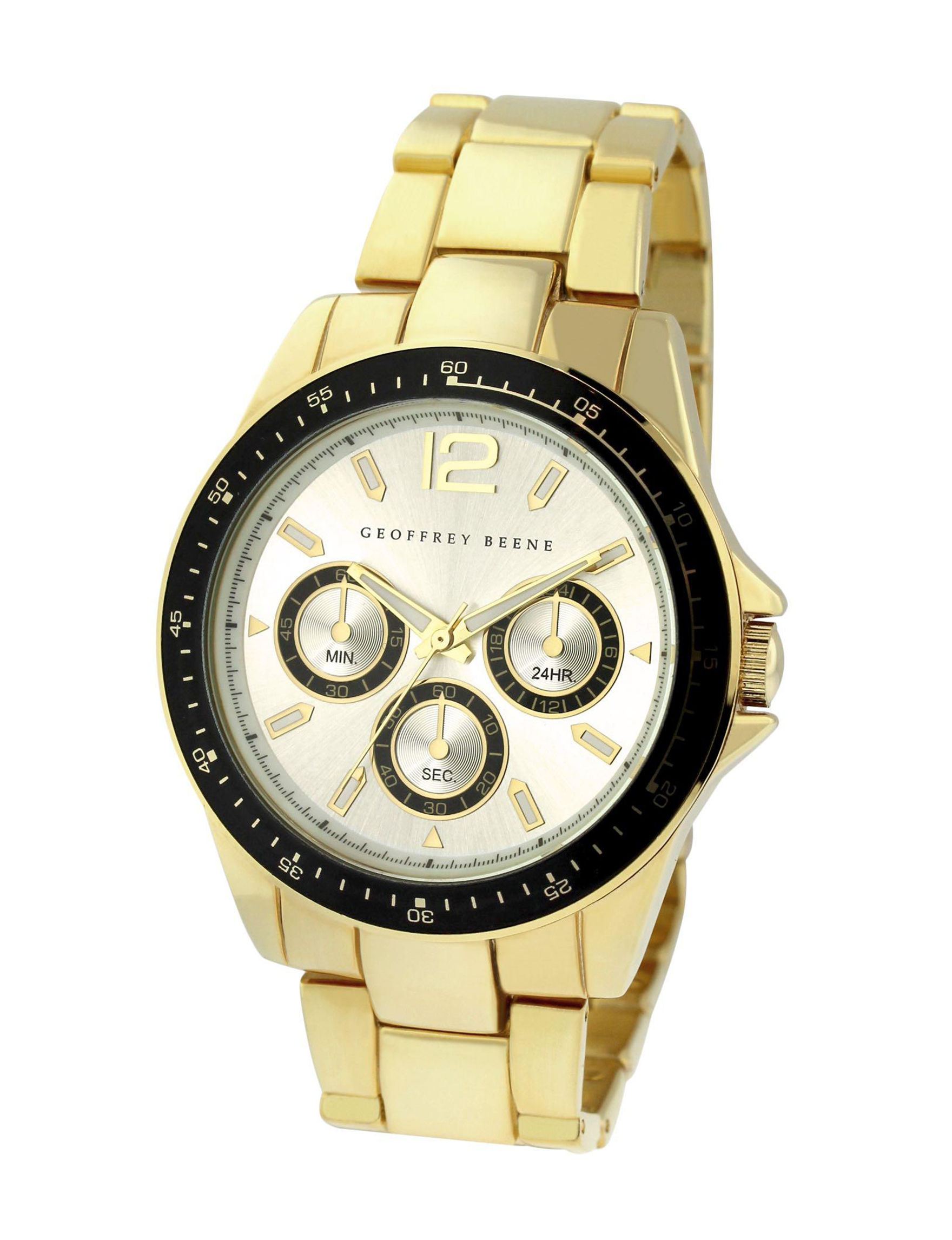 Geoffrey Beene Gold Fashion Watches