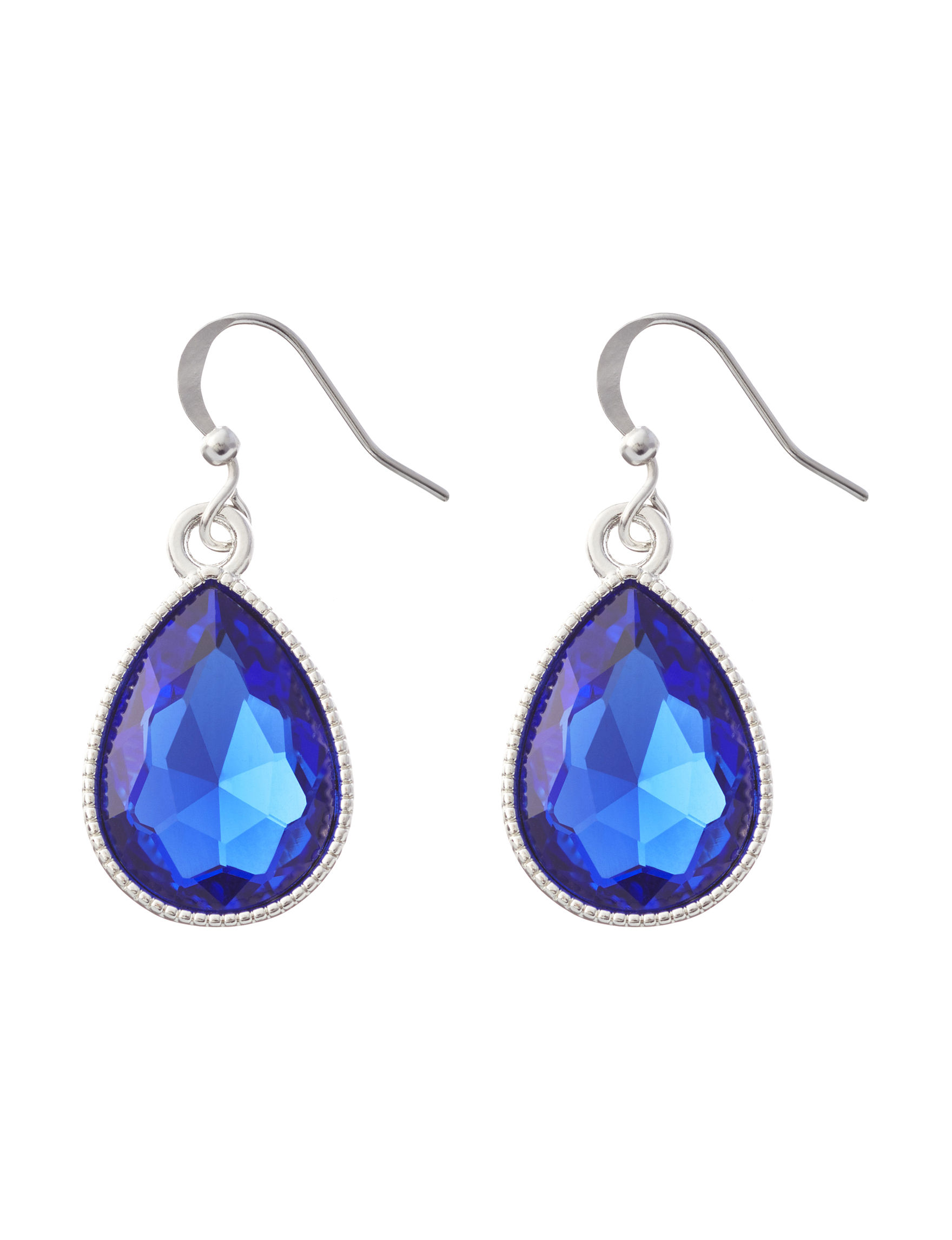 Hannah Blue Stone Drops Earrings Fashion Jewelry