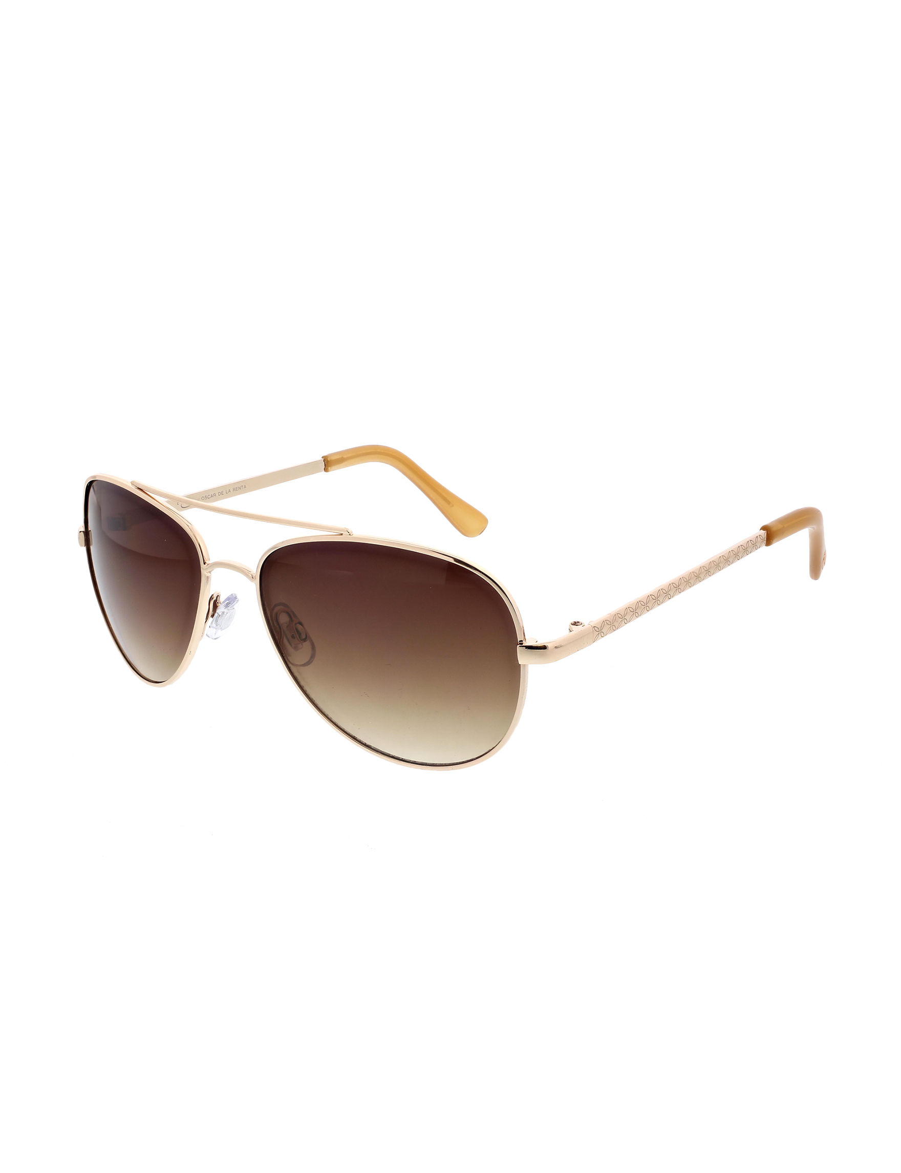 5bf397207585b O by Oscar Women s Floral Etched Temple Aviator Sunglasses