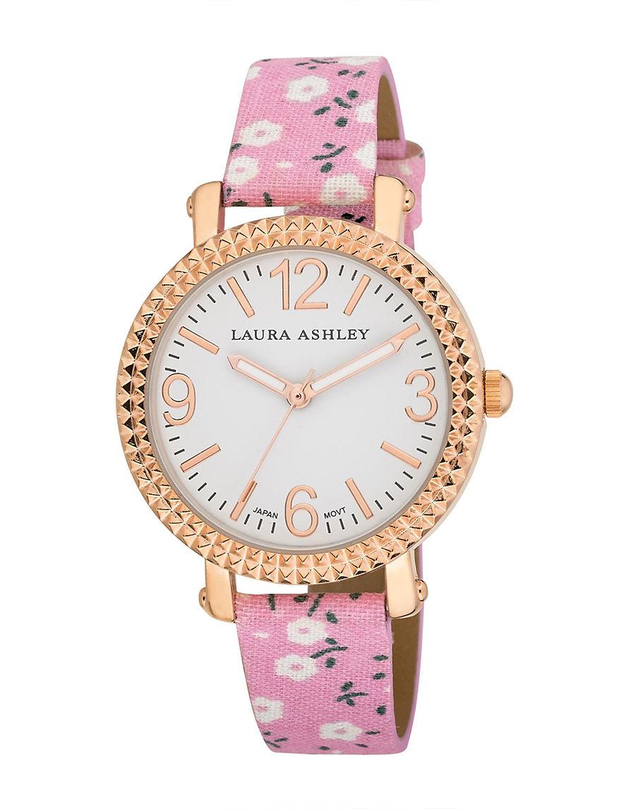 Laura Ashley Pink Fashion Watches