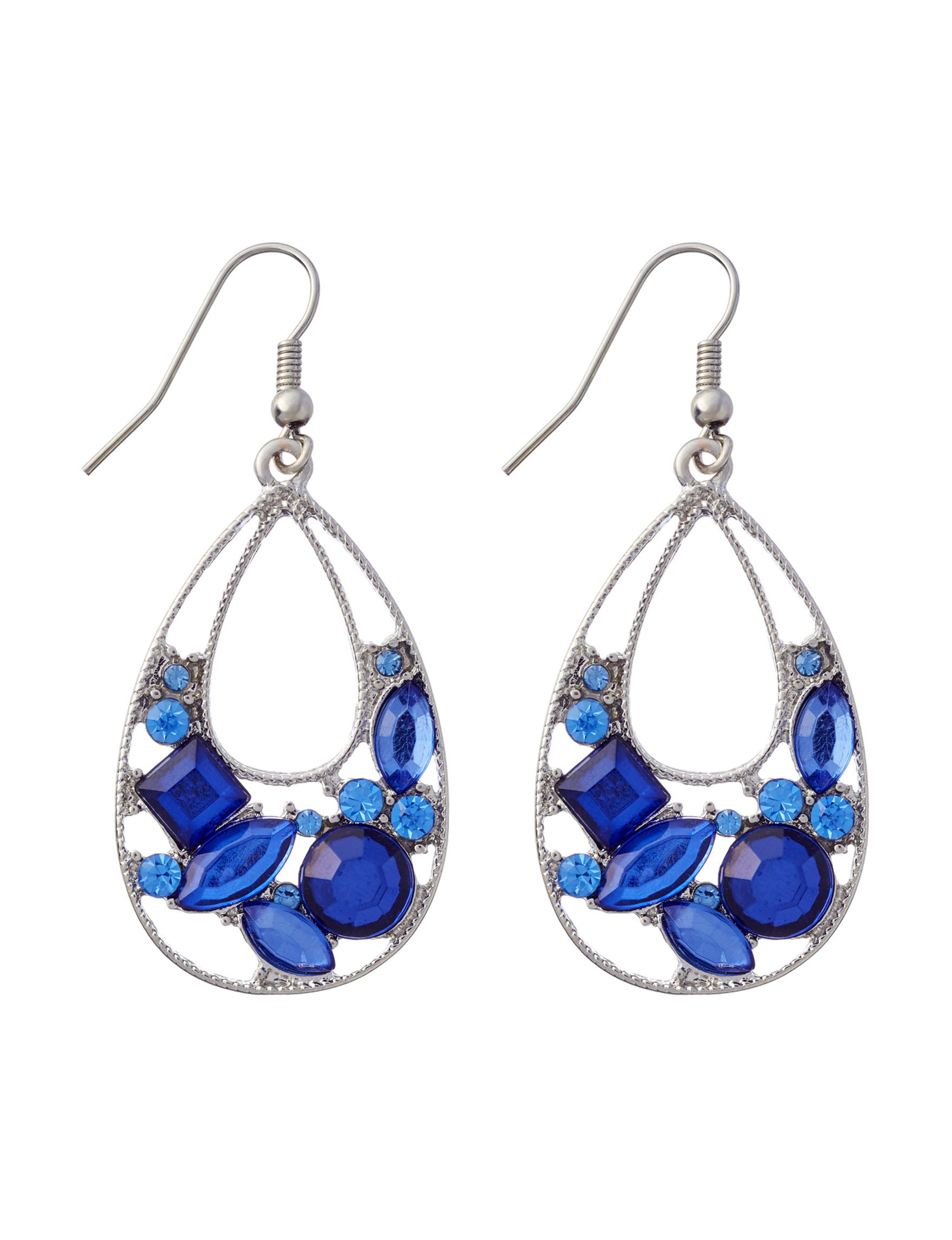 Hannah Blue Drops Earrings Fashion Jewelry