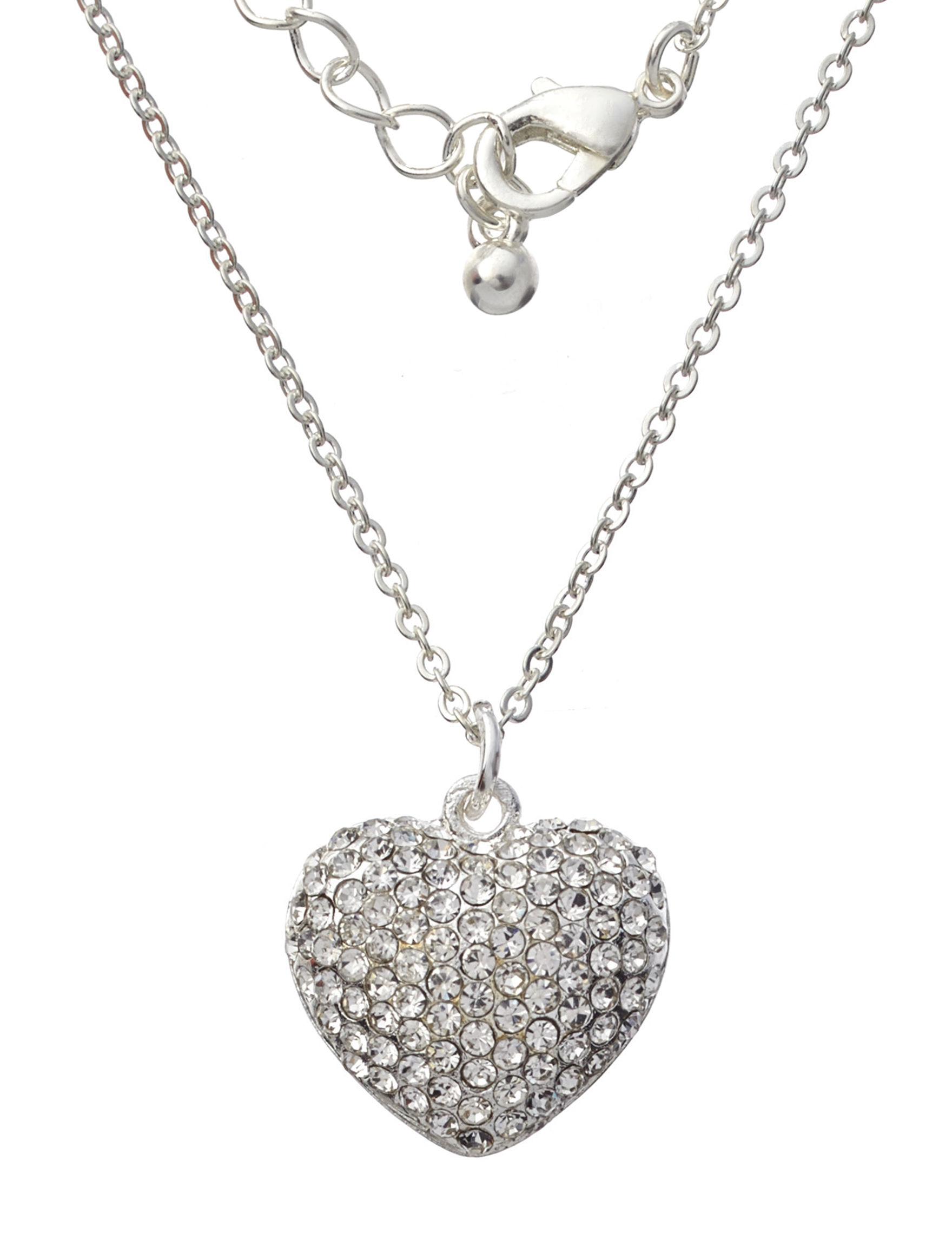 Via Roma Silver / Crystal Necklaces & Pendants Fashion Jewelry