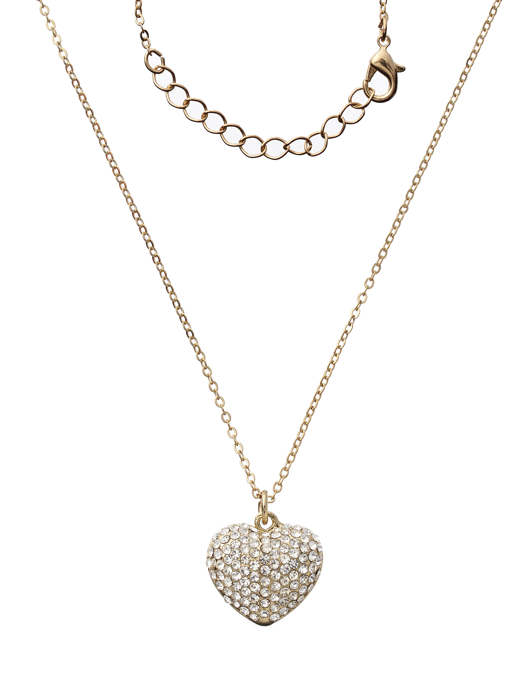 Via Roma Gold / Crystal Necklaces & Pendants Fashion Jewelry