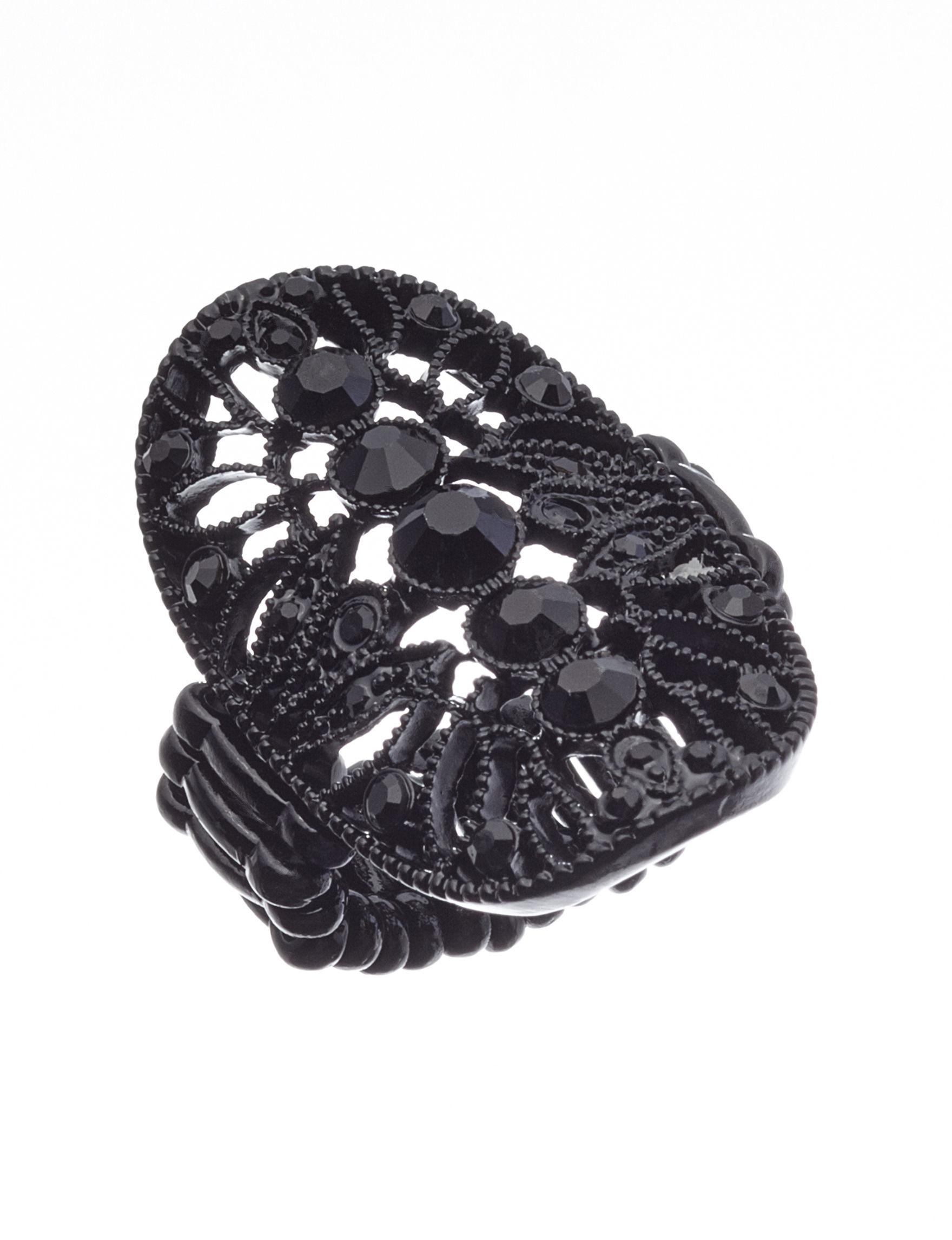 Hannah Black Rings Fashion Jewelry