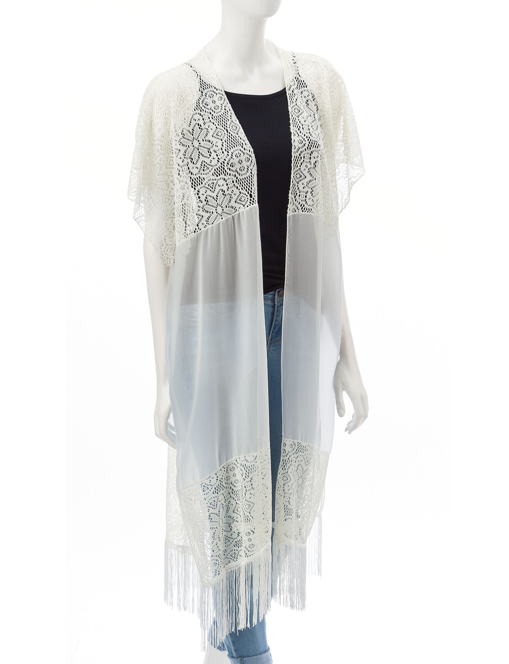 David & Young White Kimonos
