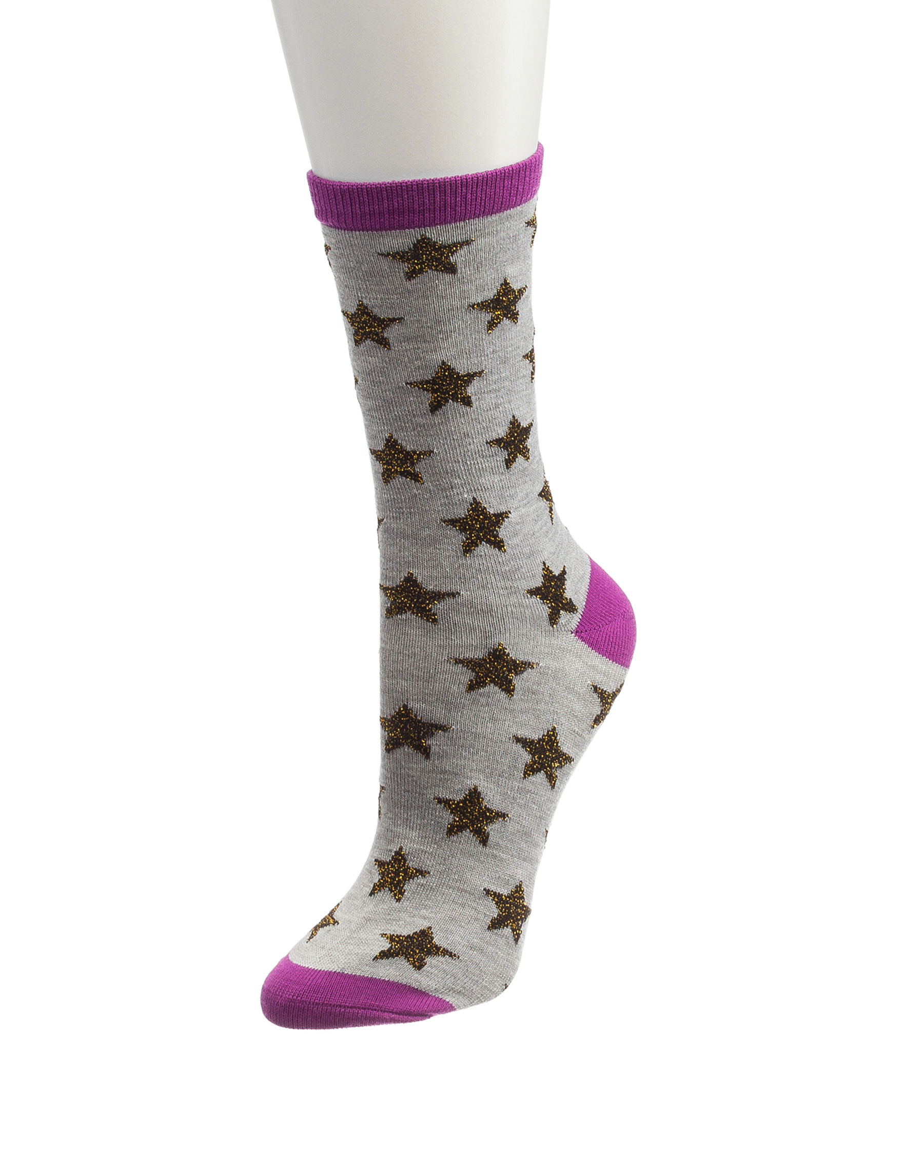 Novelty Purple Socks