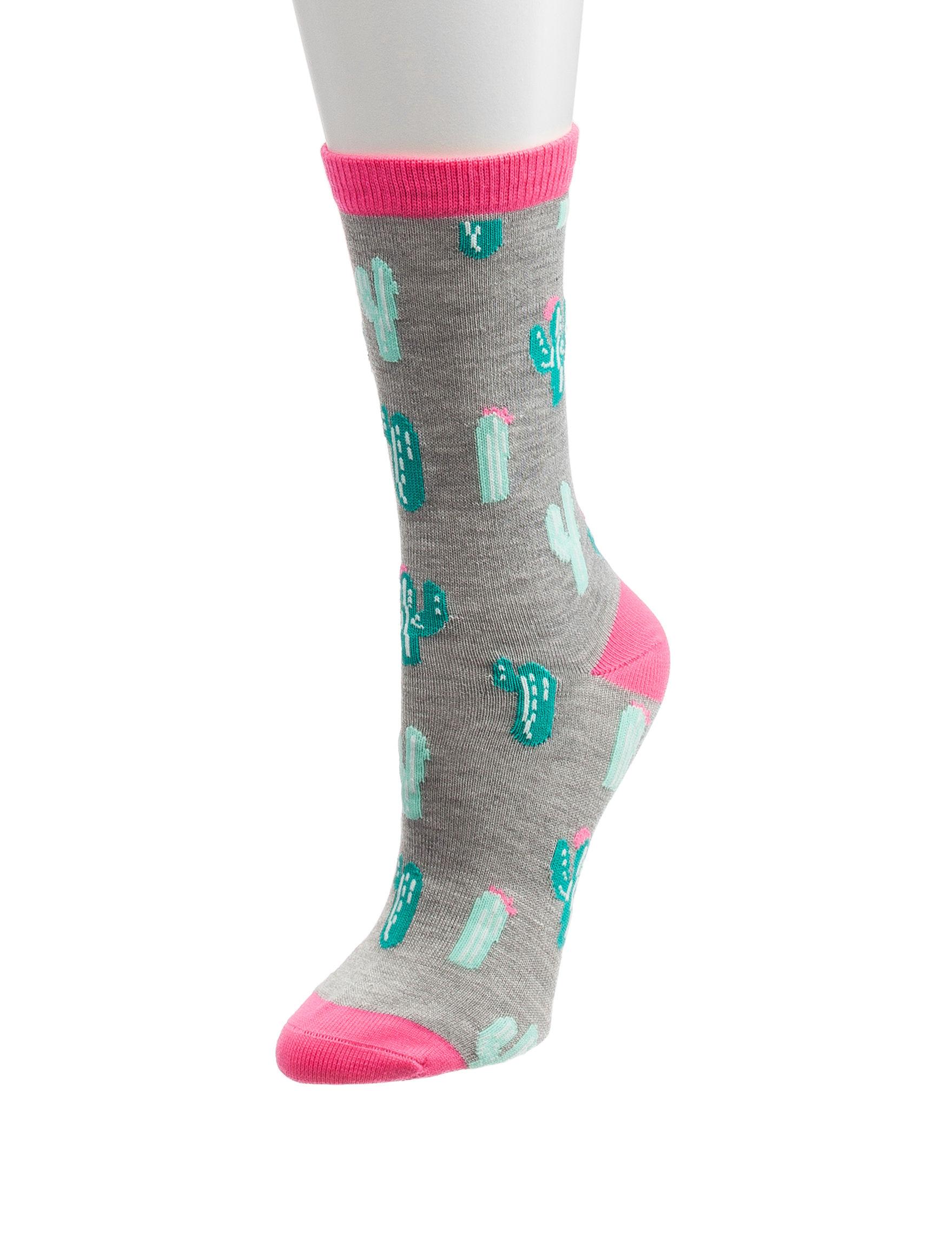 Novelty Grey Socks