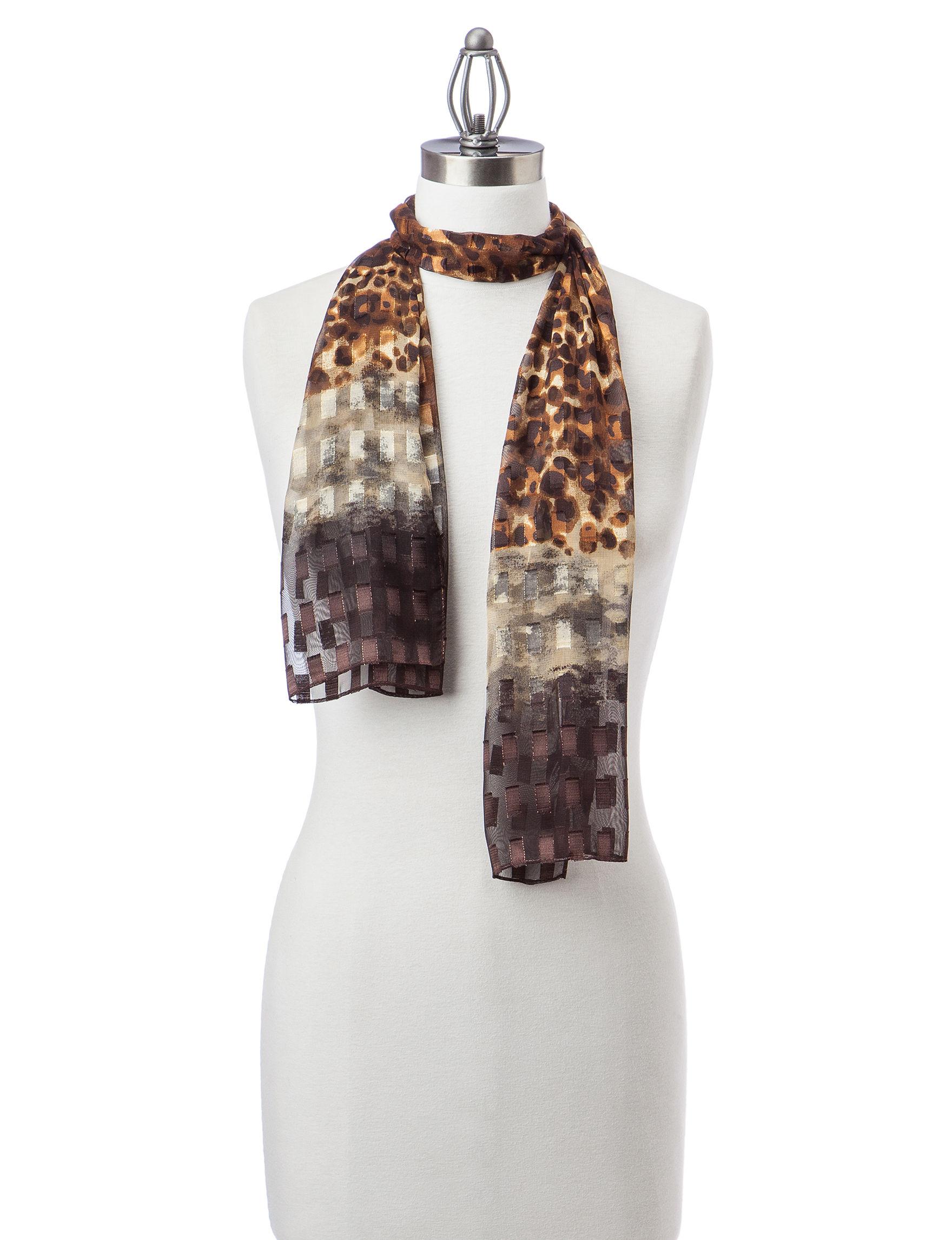 Basha Grey Scarves & Wraps