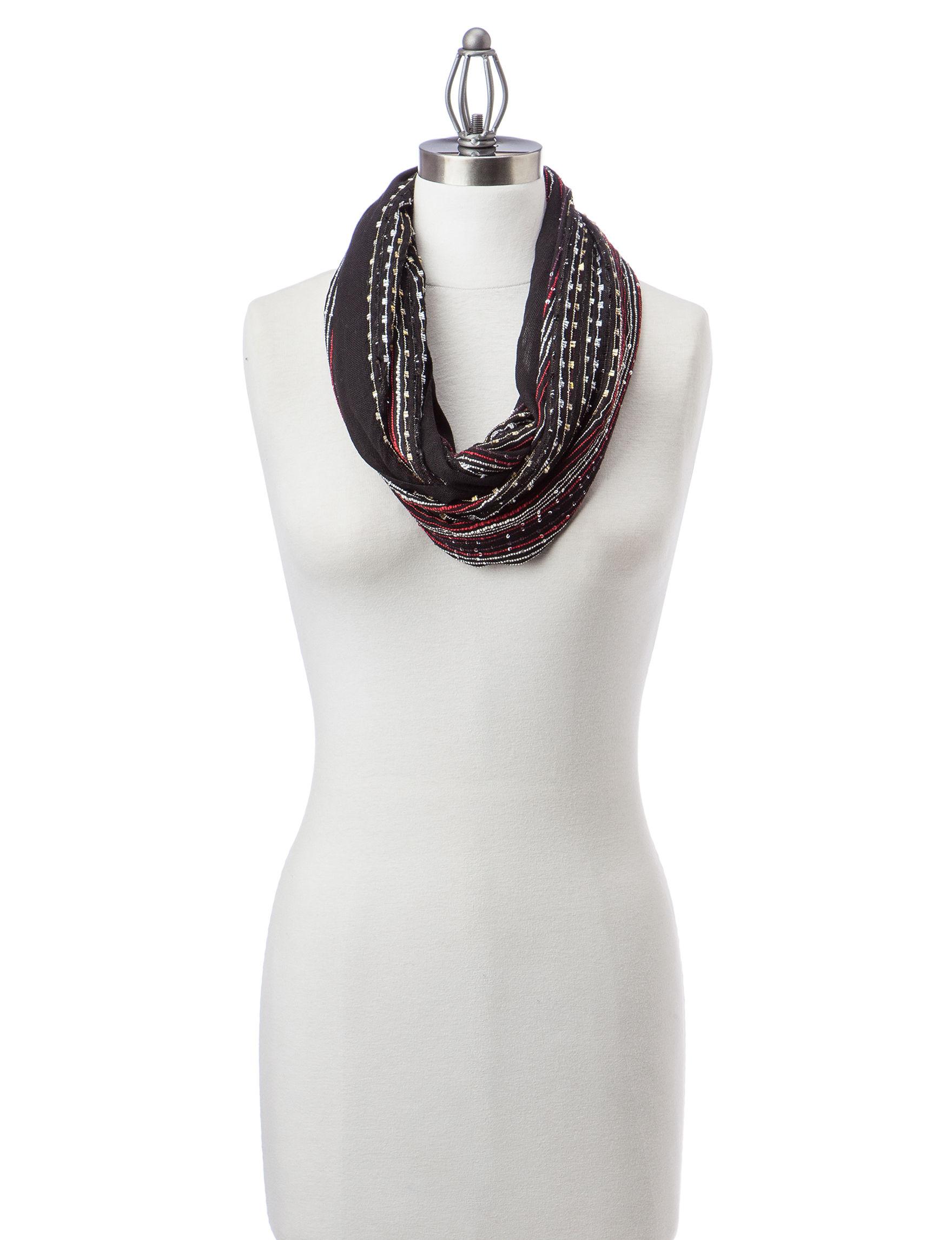 Basha Black Scarves & Wraps