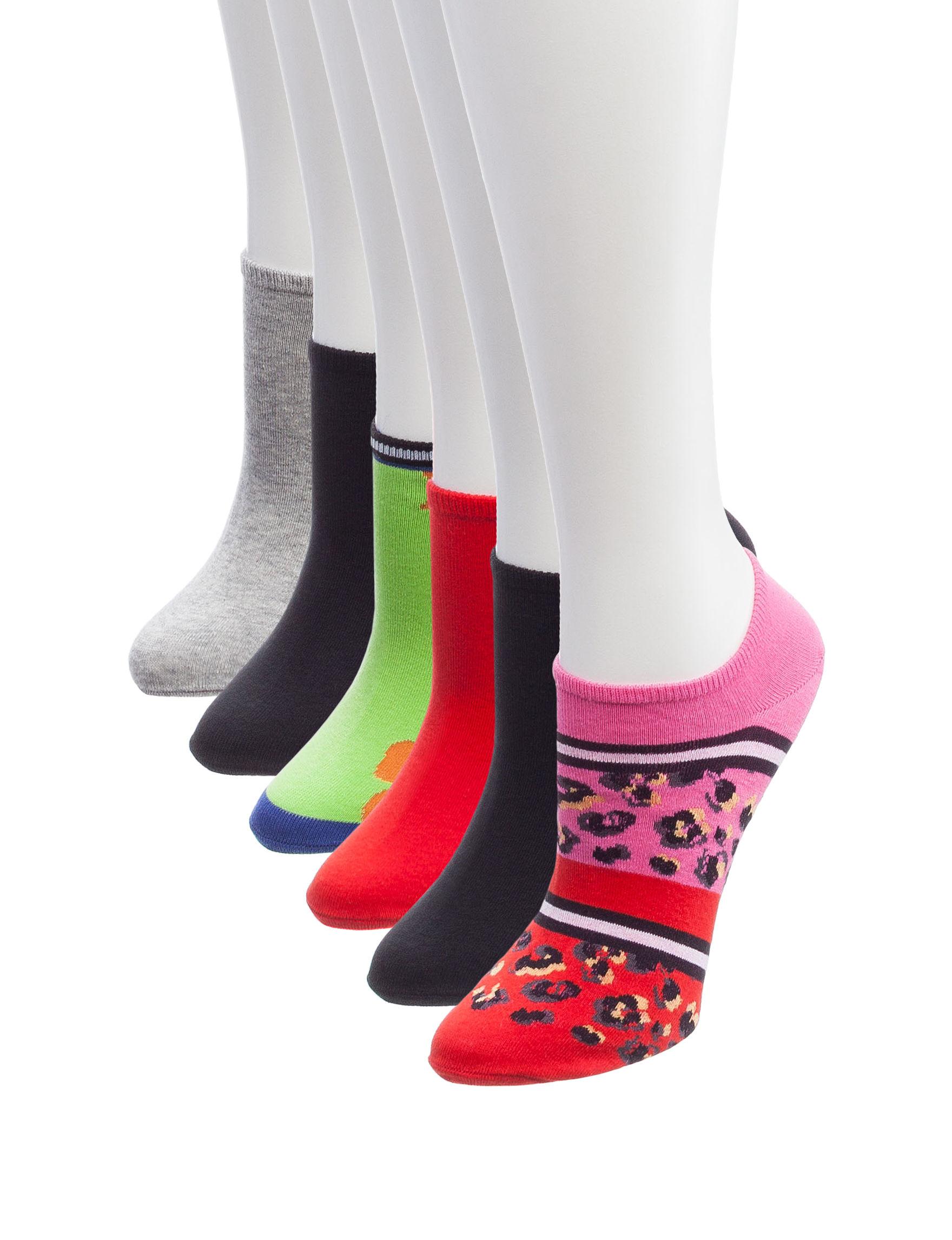 Hue Pink Socks