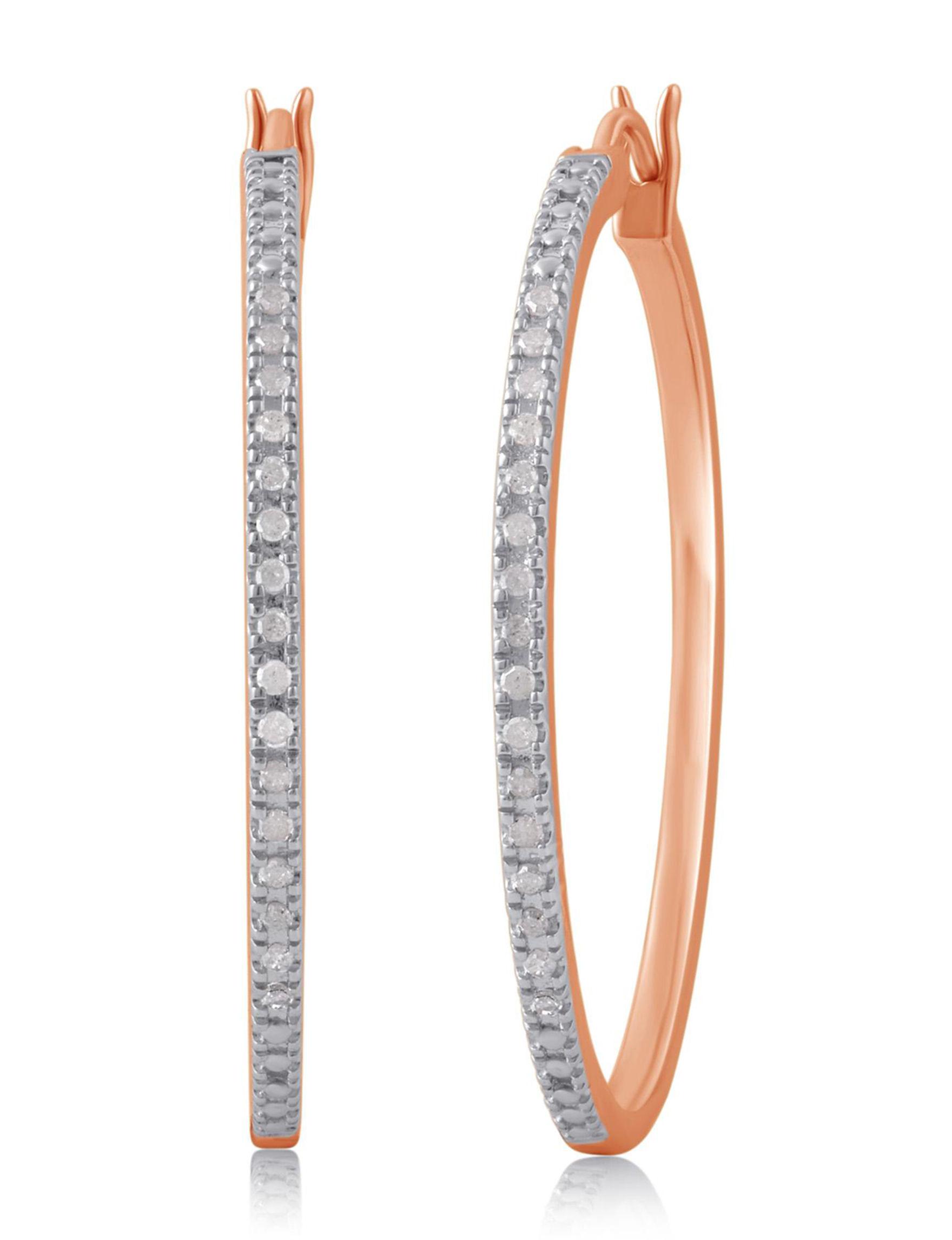 Rose Gold Earrings Fine Jewelry