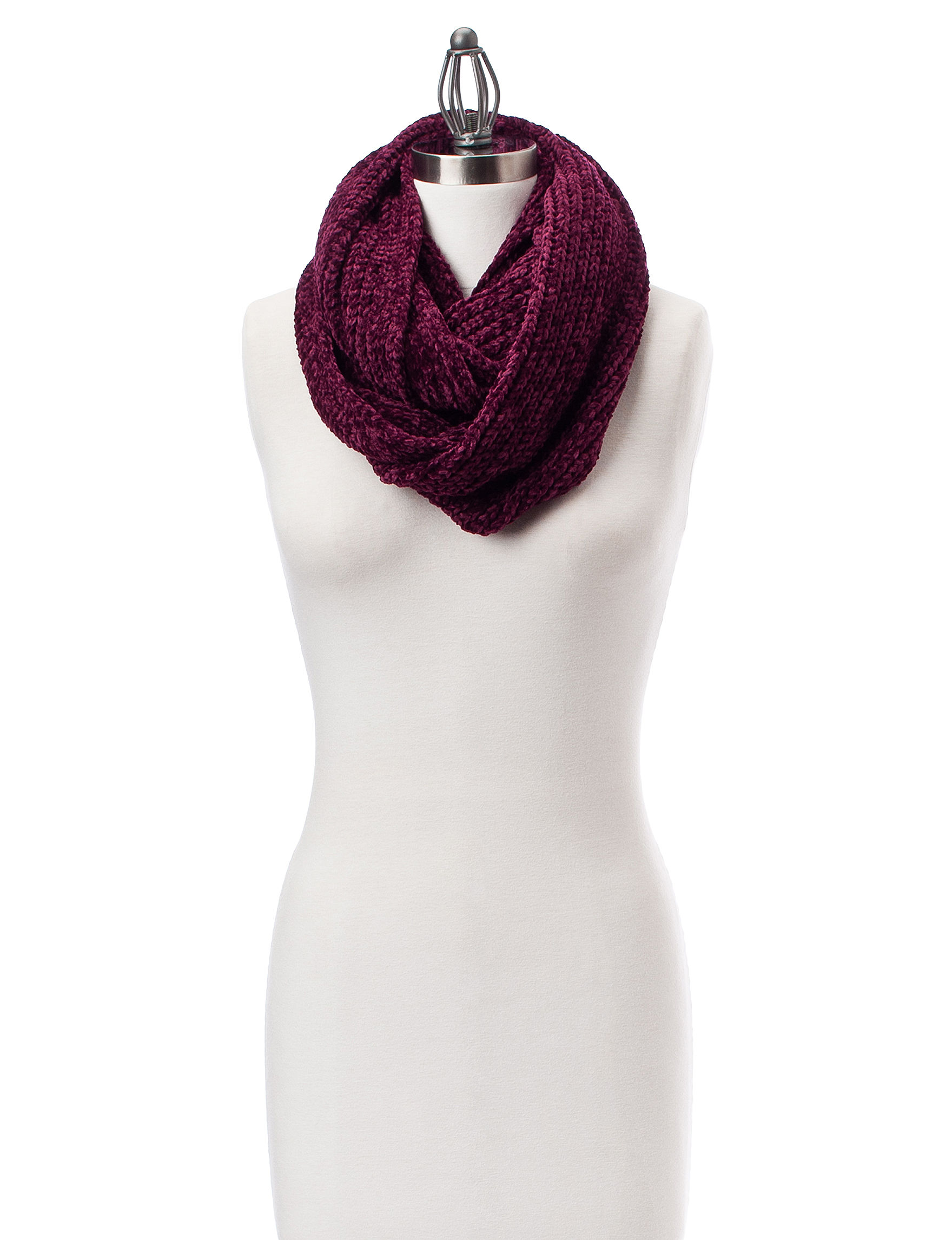 David & Young Burgundy Scarves & Wraps