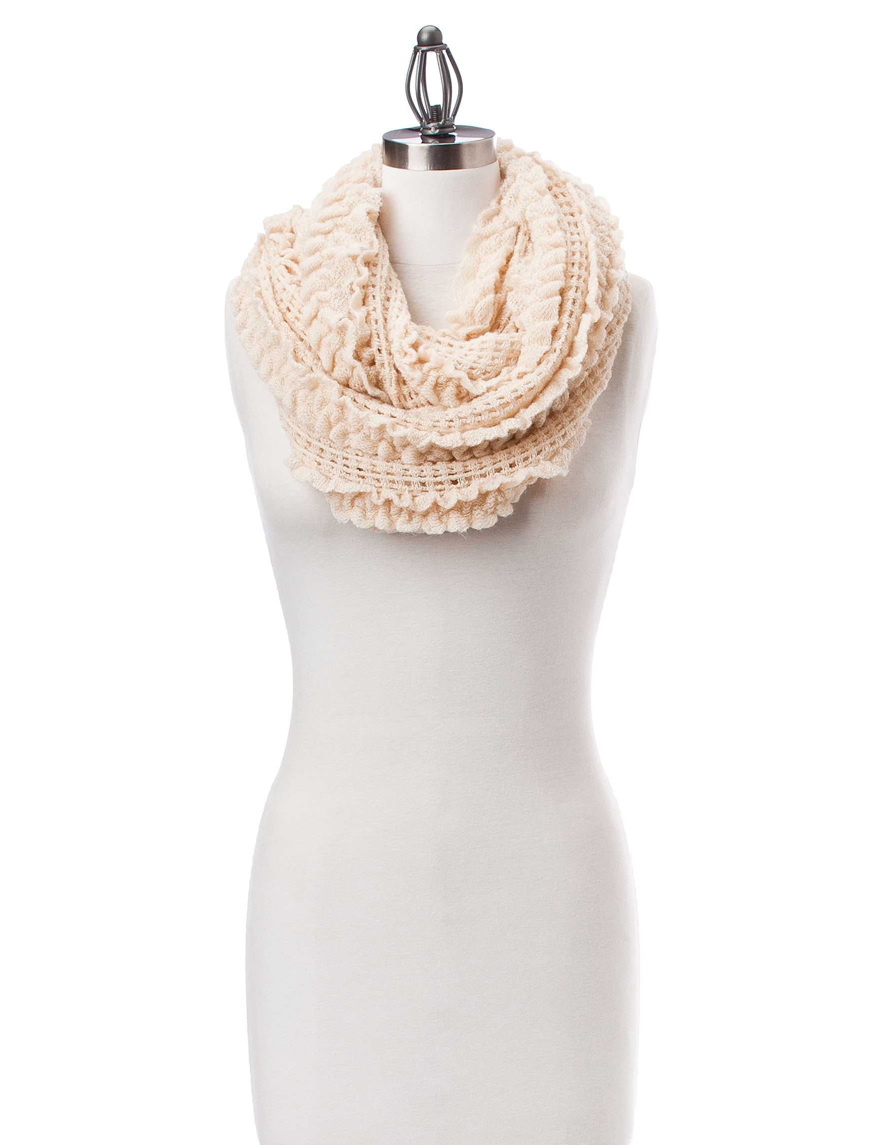 David & Young Ivory Scarves & Wraps