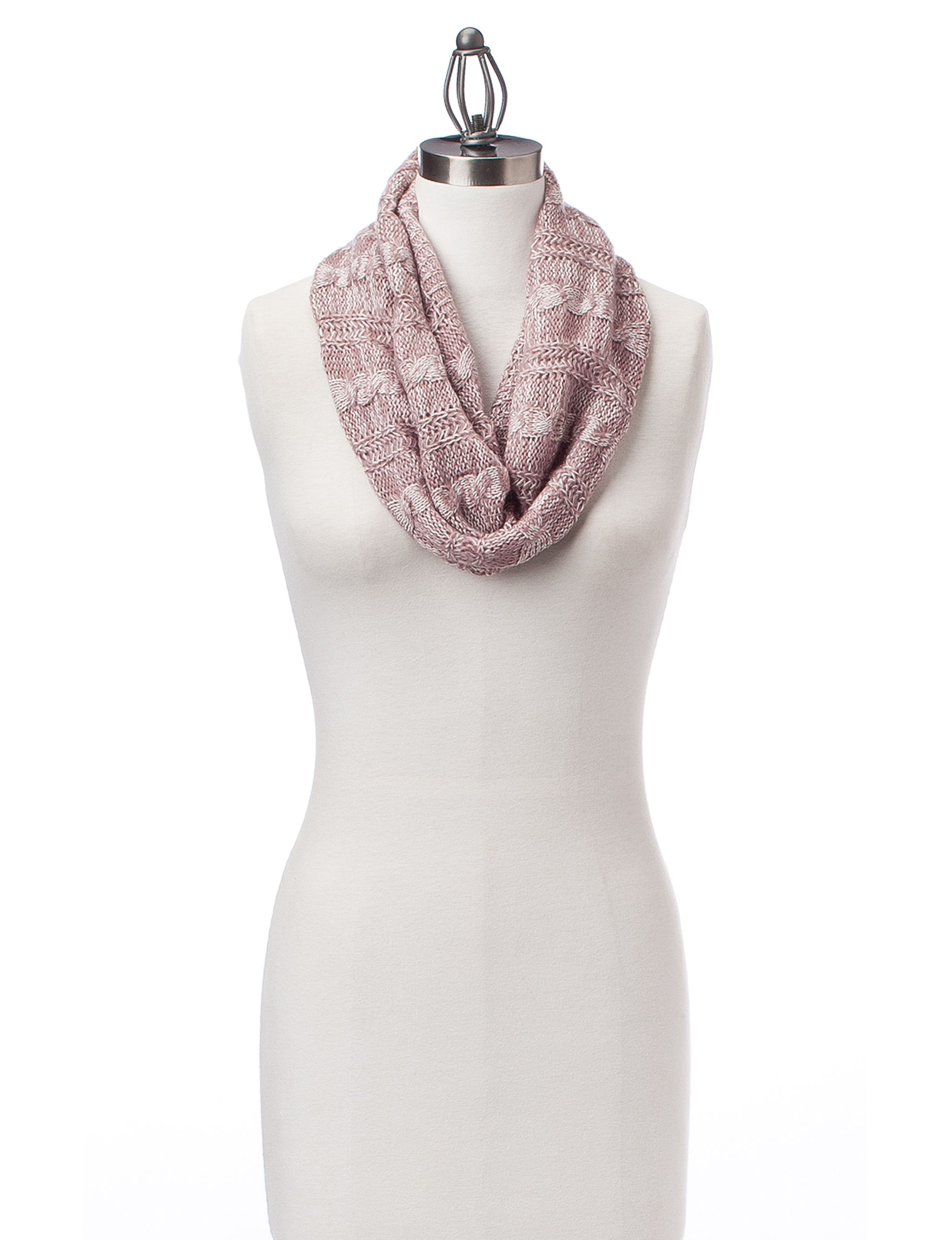 David & Young Pink Scarves & Wraps Infinity & Loops