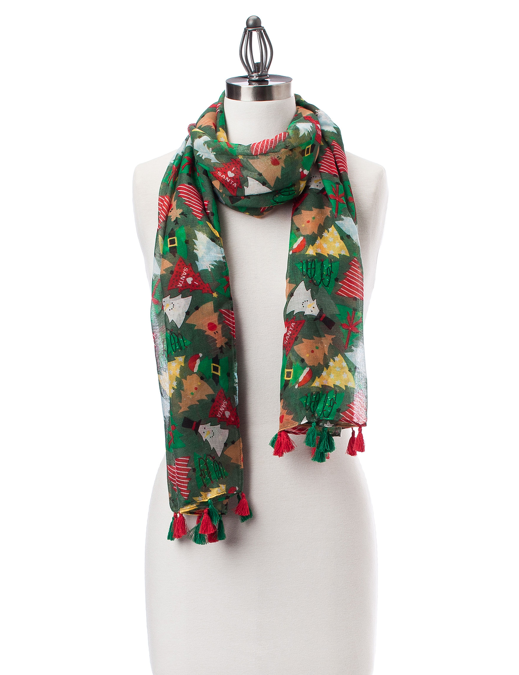 David & Young Green Scarves & Wraps