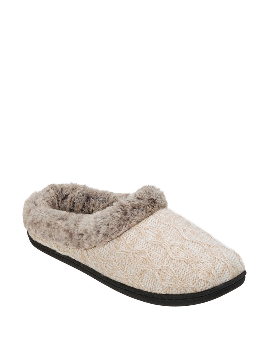 Dearfoam Oatmeal Slipper Shoes