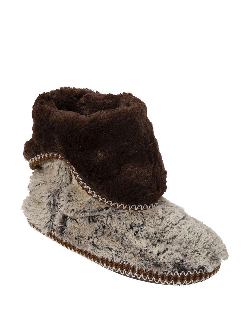 Dearfoams Brown Slipper Boots & Booties