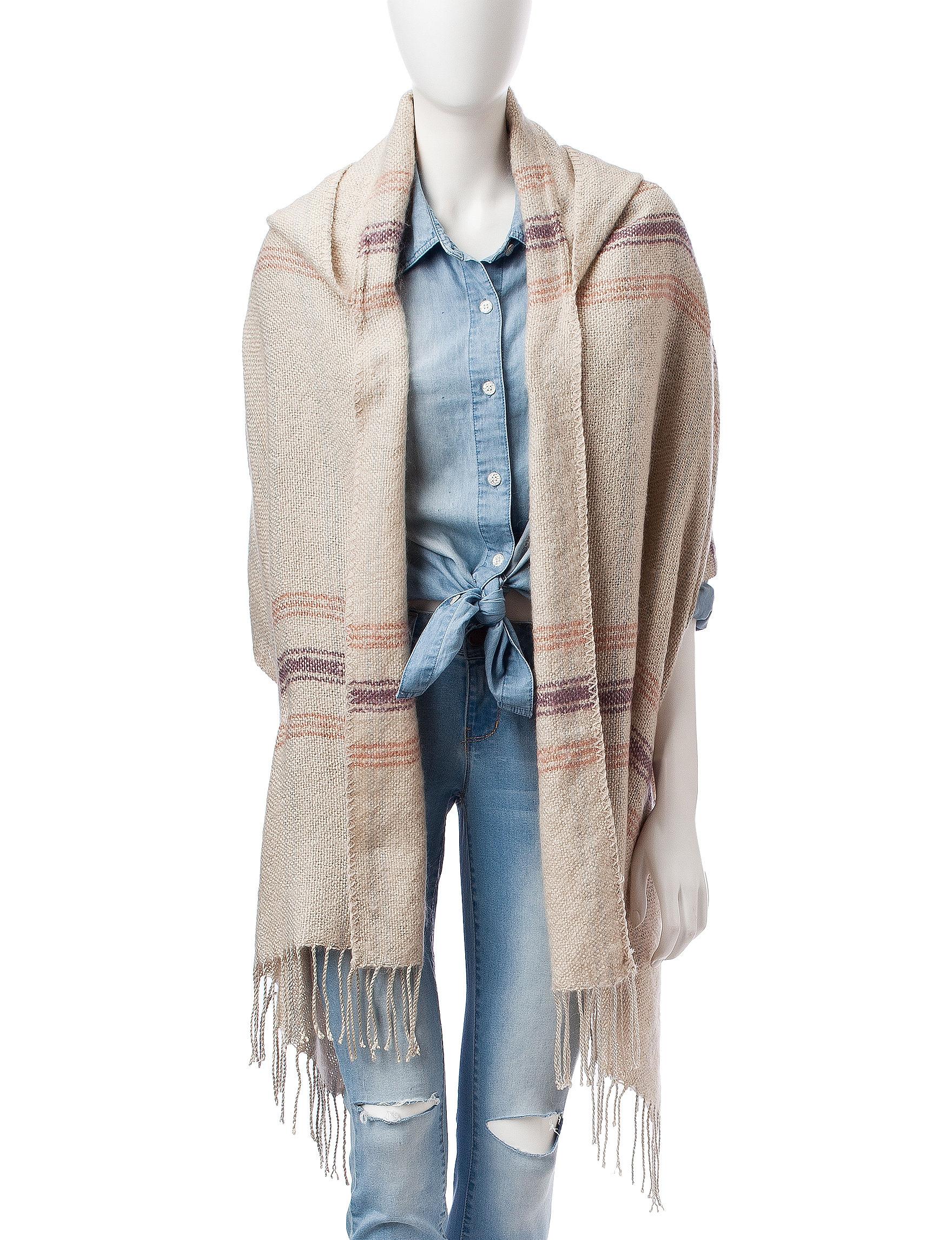 Jessica Simpson Beige Scarves & Wraps Ruanas