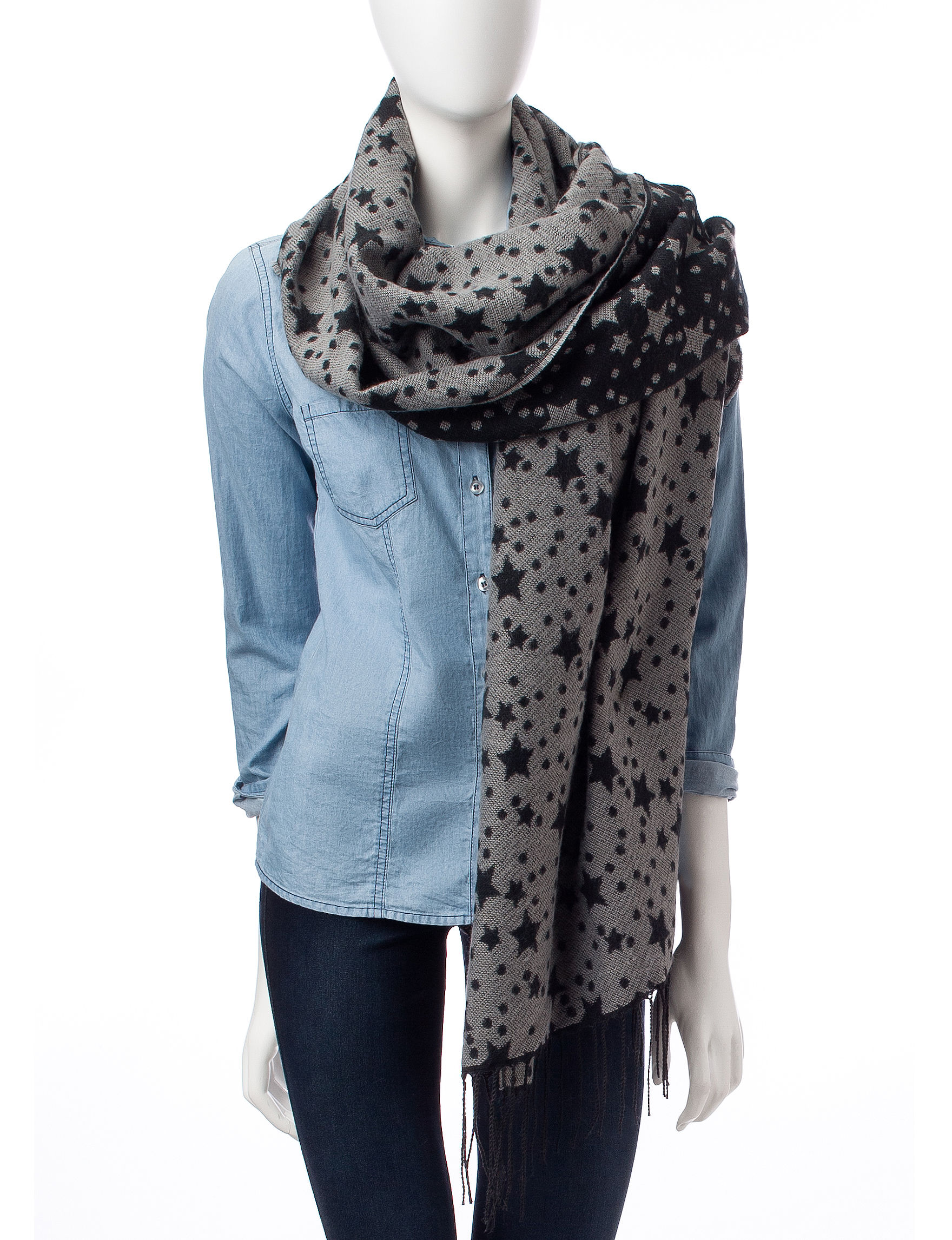 Lake Shore Drive Grey Scarves & Wraps Scarves
