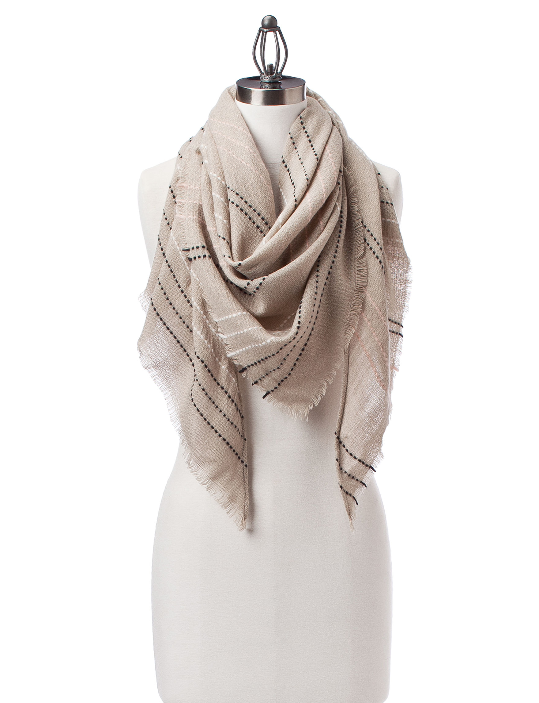 Lake Shore Drive Taupe Scarves & Wraps Scarves