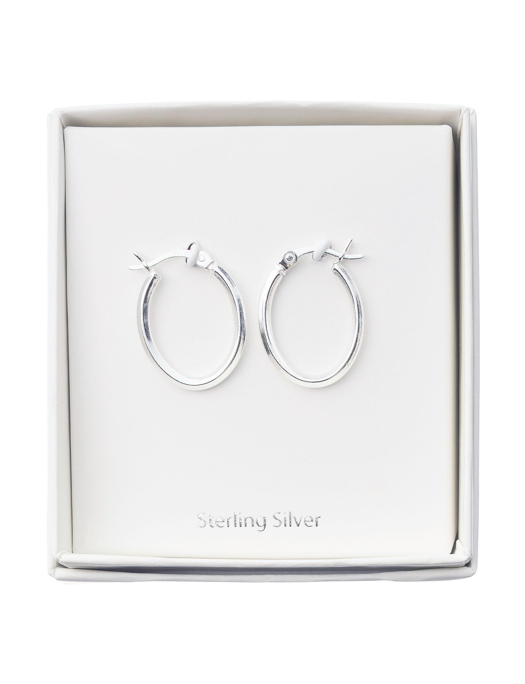 Marsala Silver Hoops Earrings Fine Jewelry