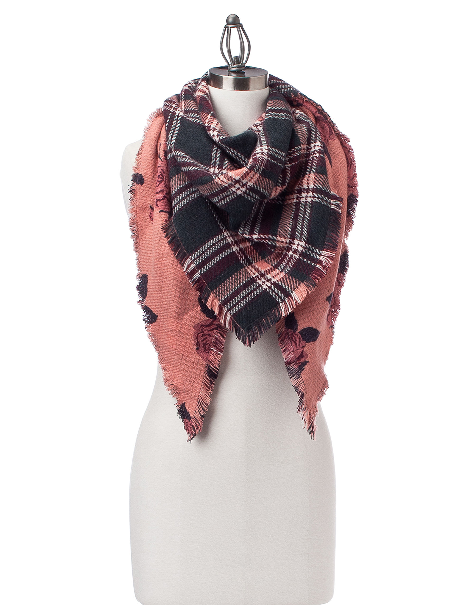 David & Young Pink Scarves & Wraps