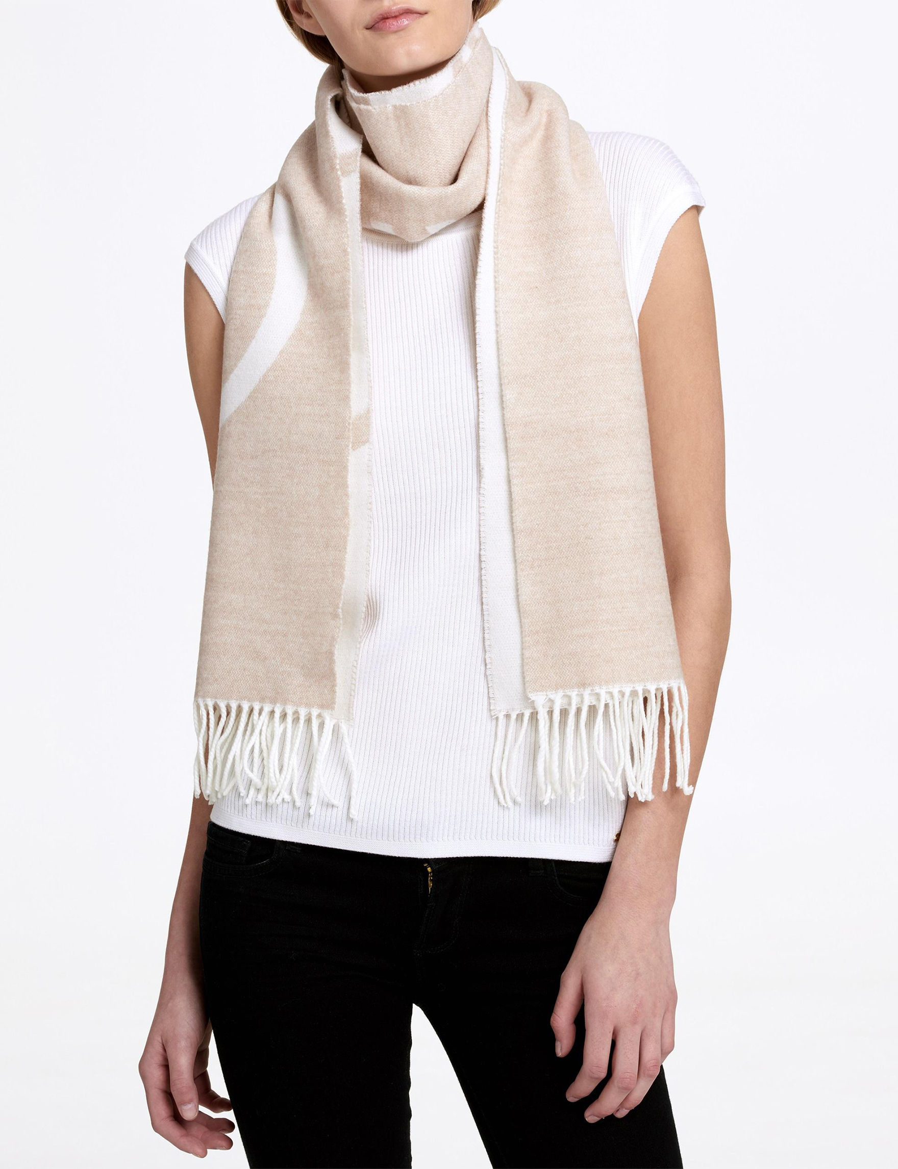 Calvin Klein Beige Scarves & Wraps Scarves