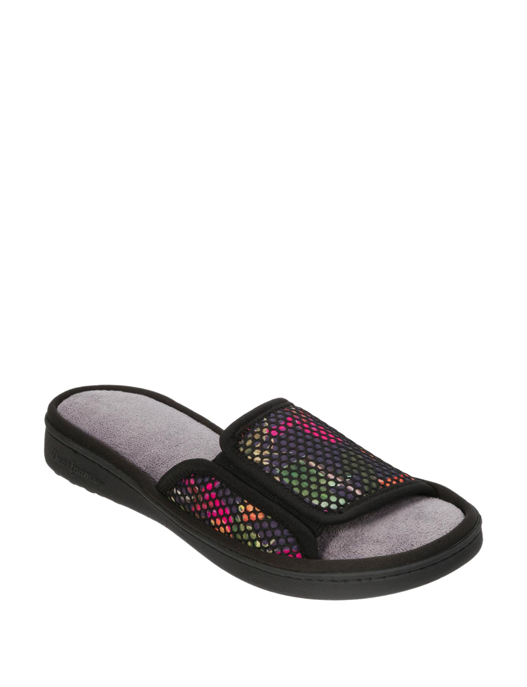 Dearfoams Black Slipper Sandals