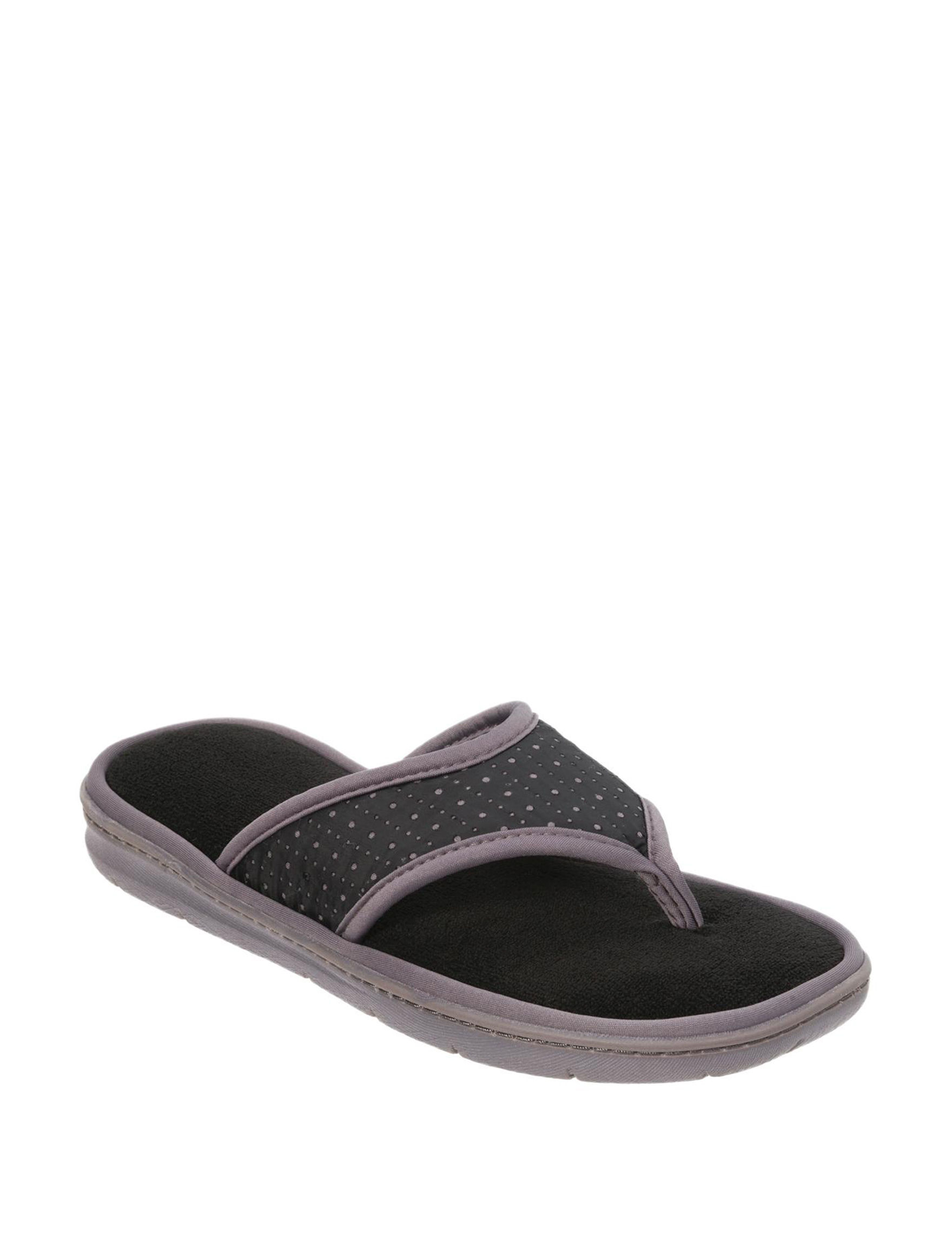 Dearfoams Black Slipper Sandals