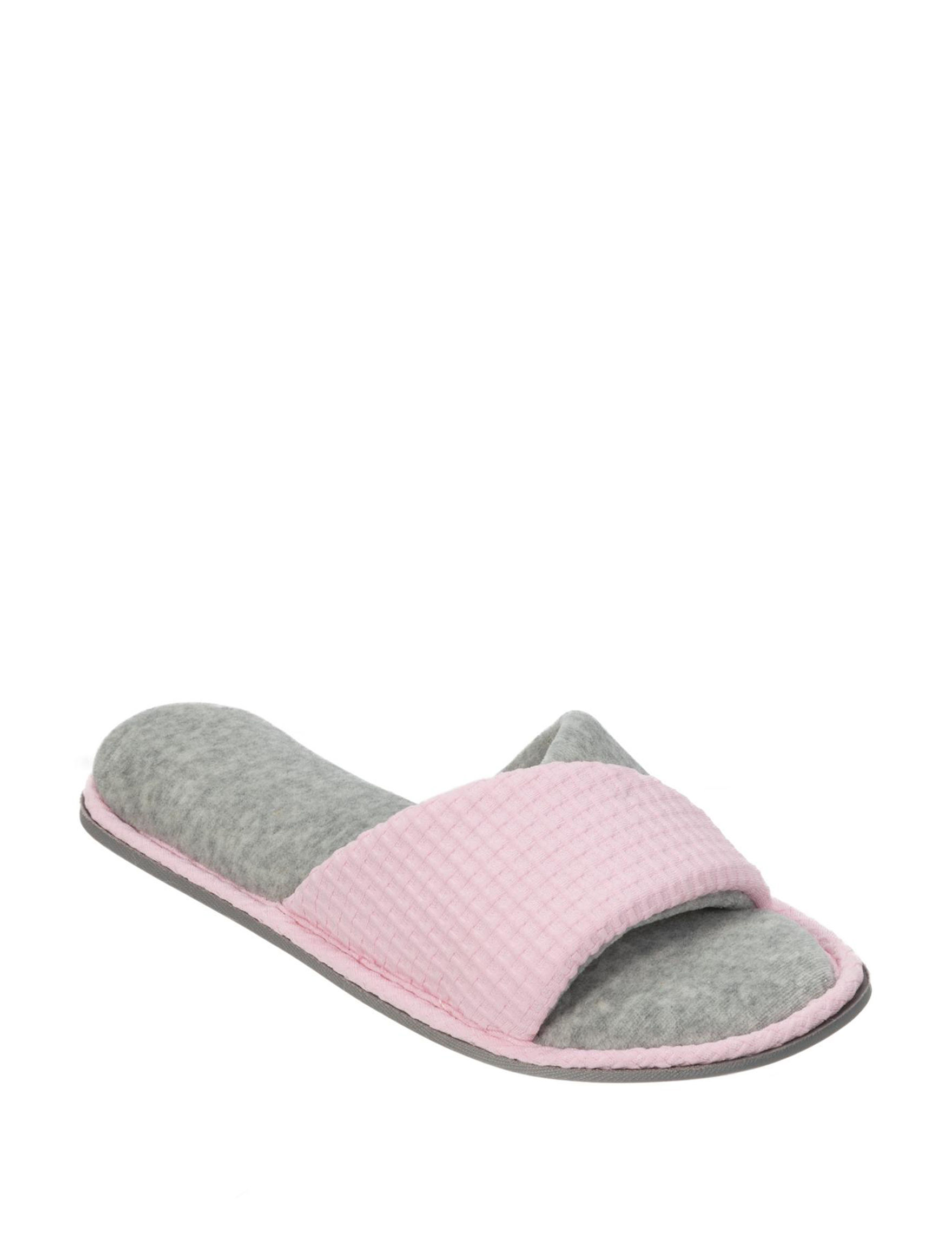 Dearfoams Pink Slipper Sandals