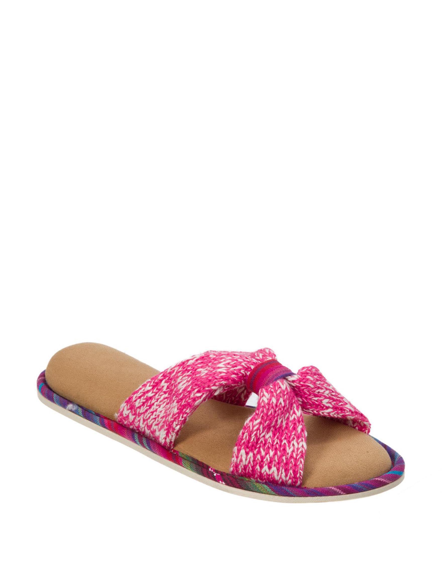 Dearfoams Pink Slipper Sandals