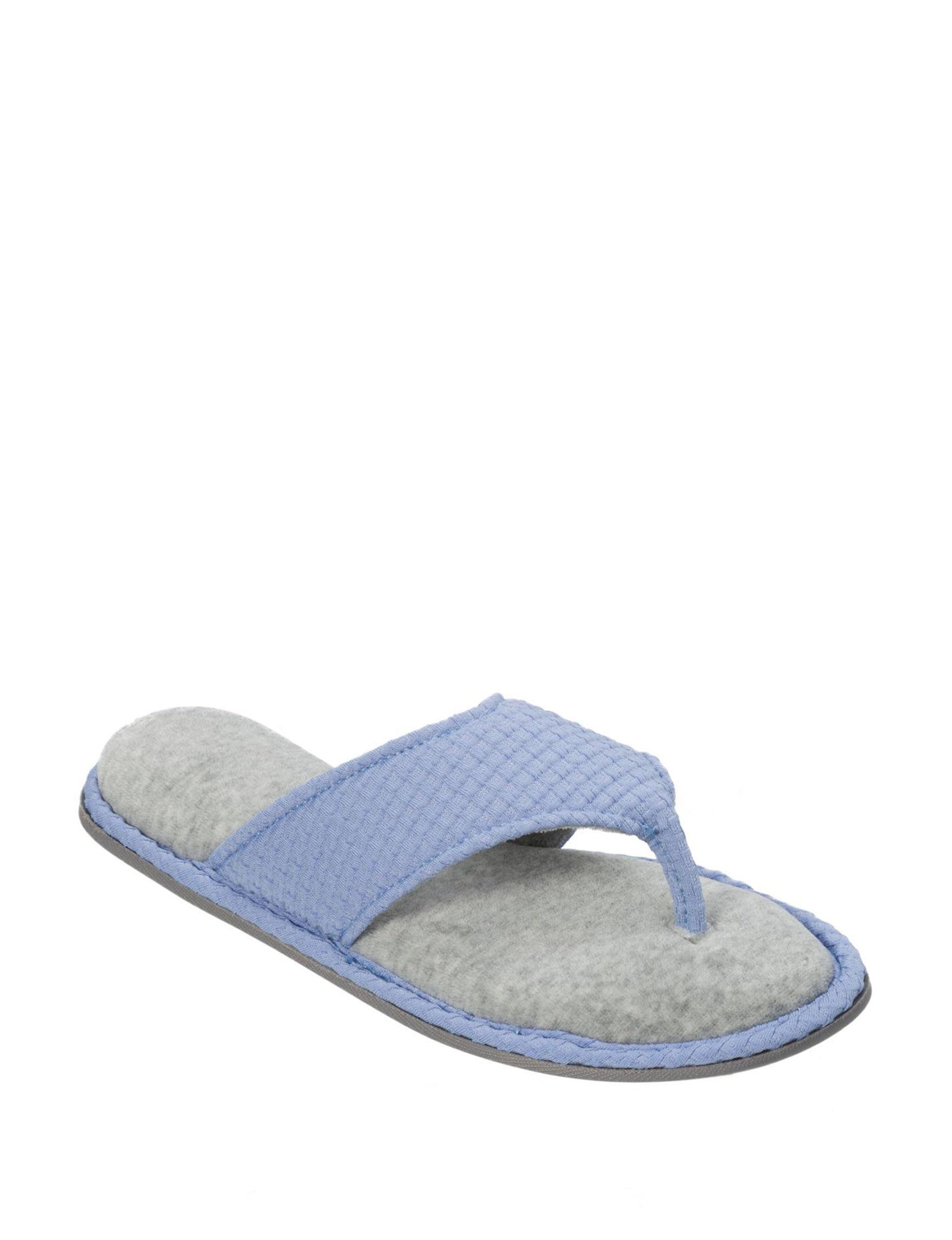 Dearfoams Blue Slipper Sandals