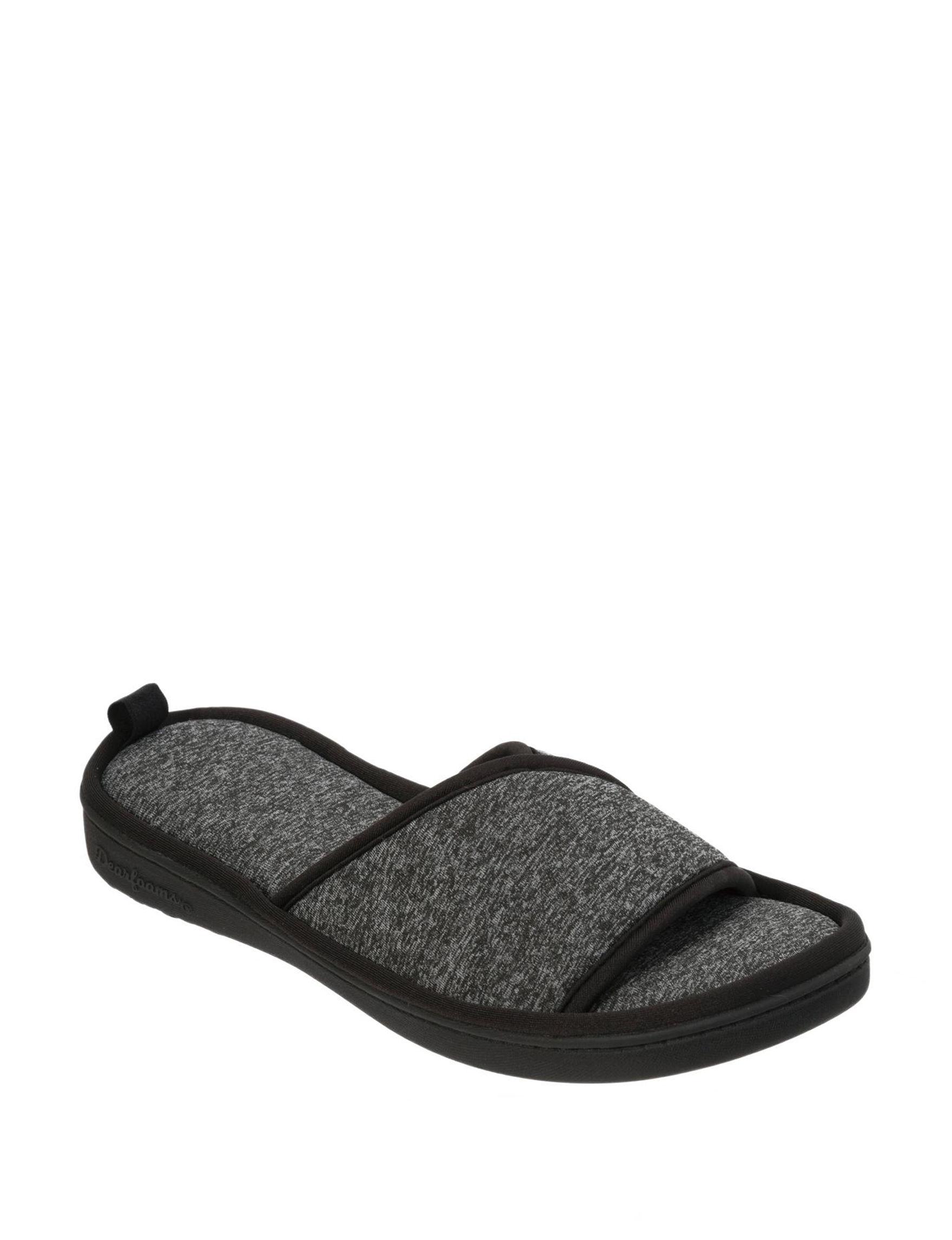 Dearfoams Black Slipper Shoes