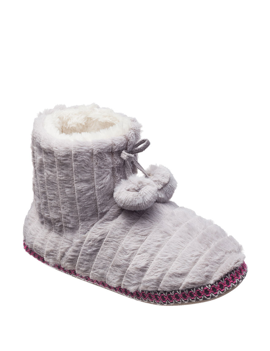 PJ Couture Grey Slipper Boots & Booties