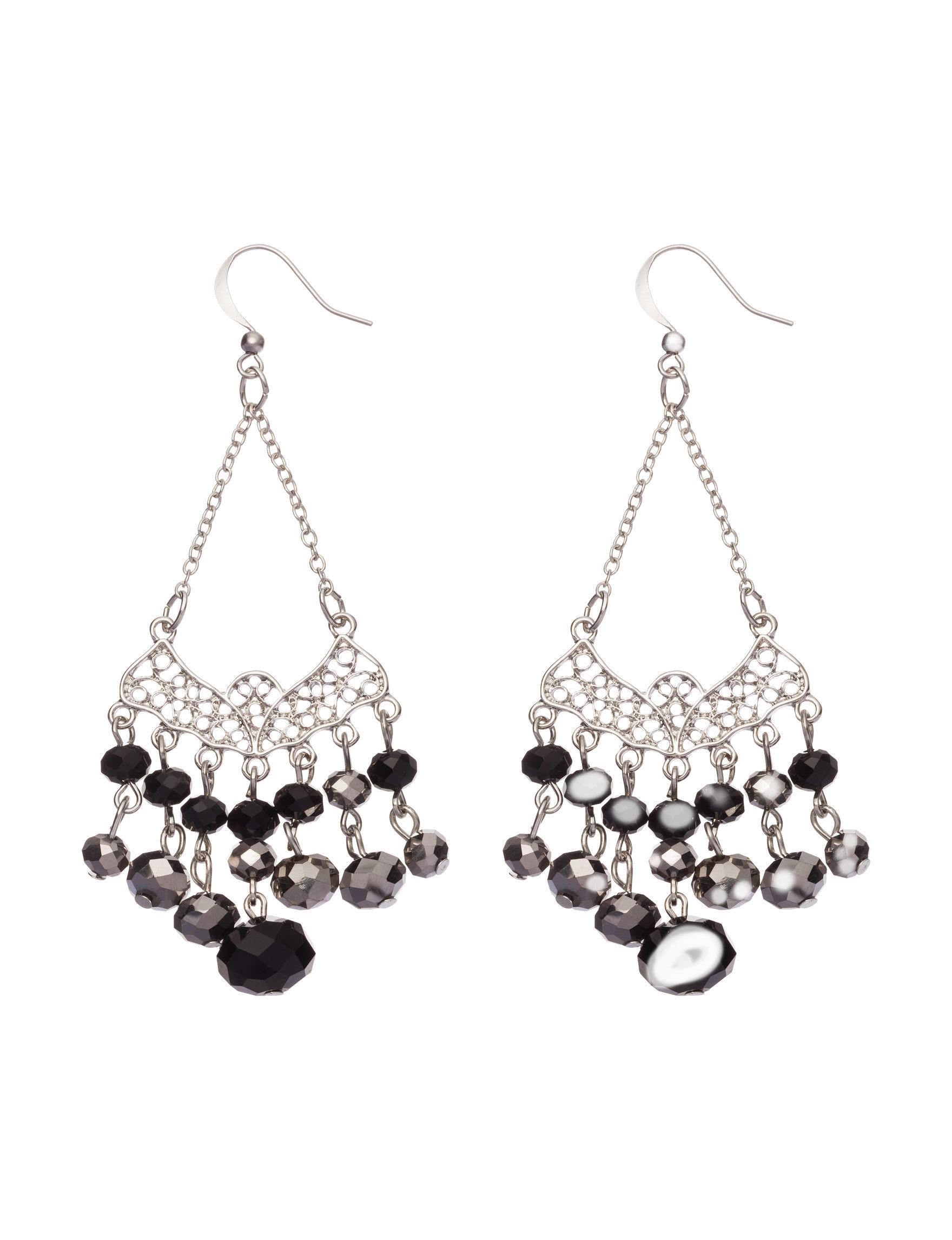 Hannah Black Earrings Fashion Jewelry